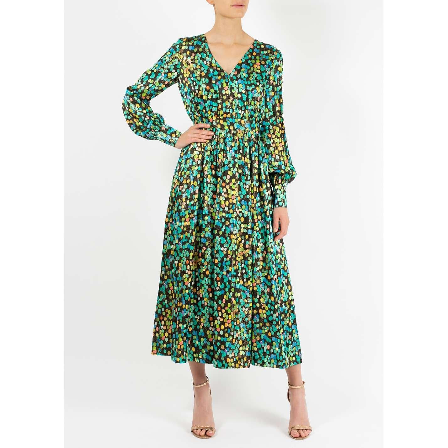 Dhela Dot Print Midi Dress