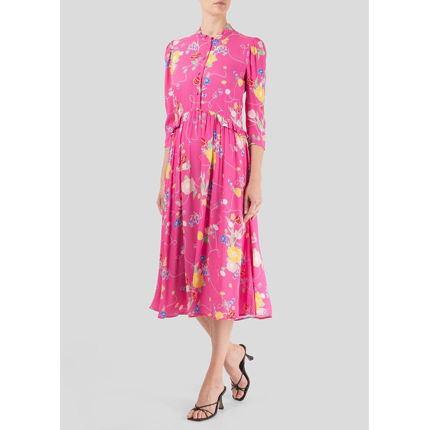 Ghost Floral Printed Midi Dress