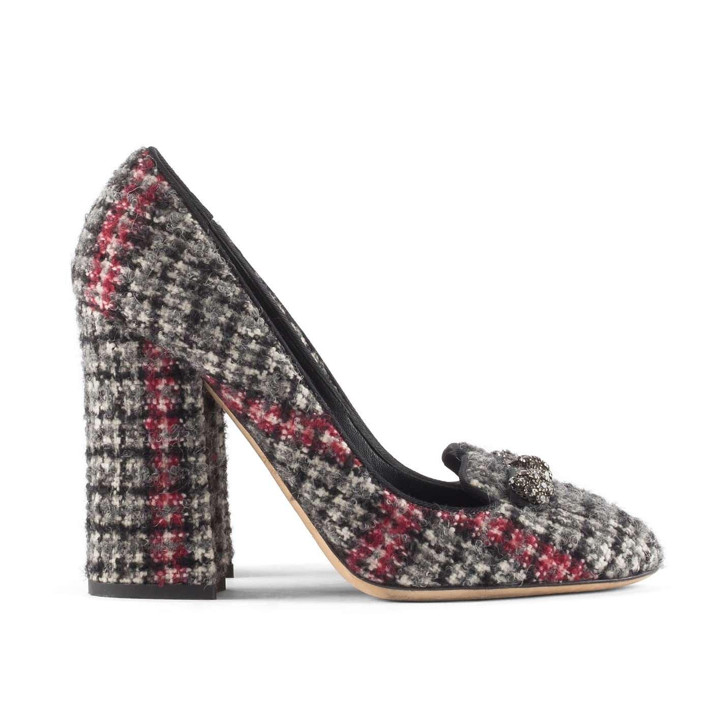 DOLCE & GABBANA Tweed Block Heels
