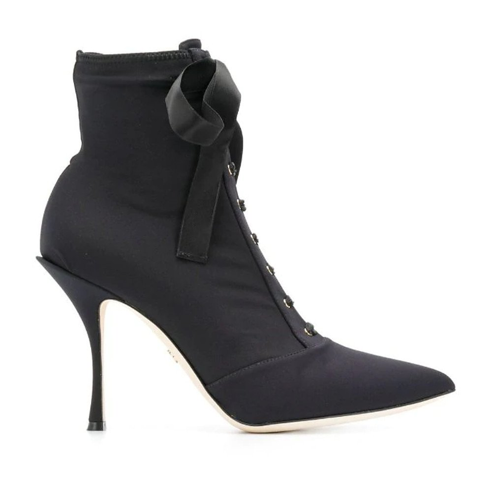DOLCE & GABBANA Lori Stretch-Jersey Ankle Boots