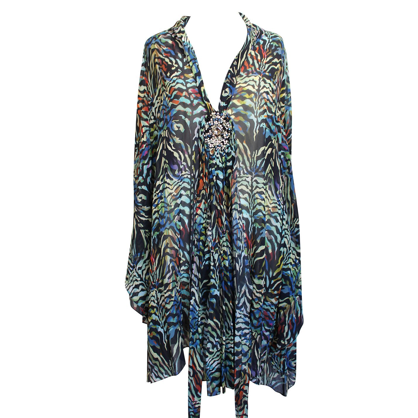 Matthew Williamson Sheer Multicolour Printed Dress