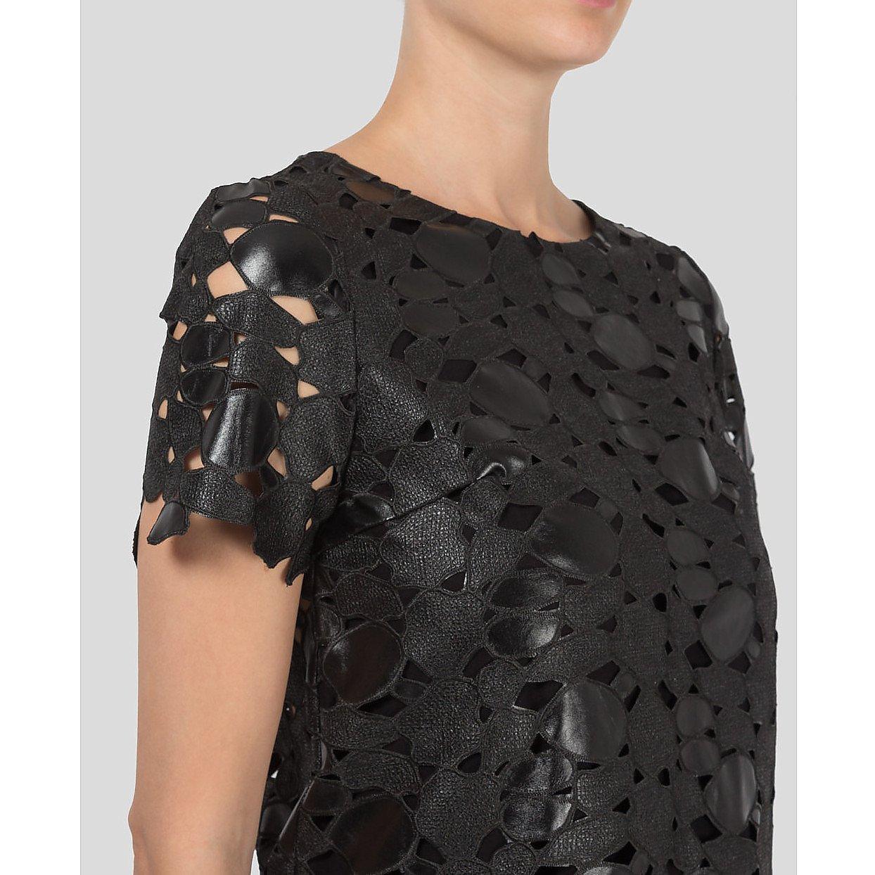 Zoe Jordan Laser Cut Leather Top