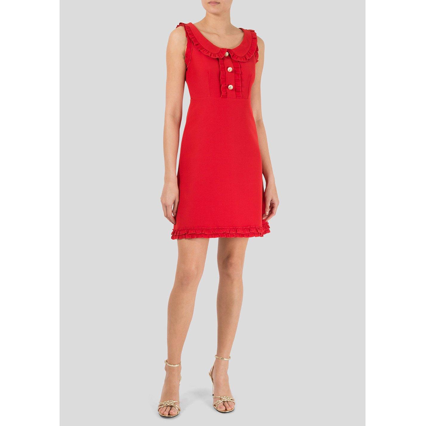 Gucci Ruffle-Trimmed Sleeveless Mini Dress