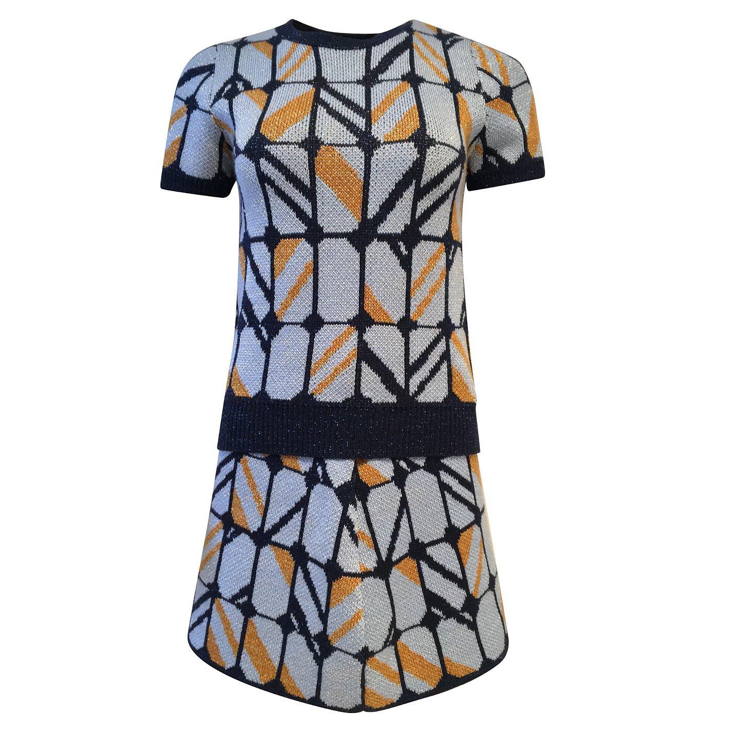 Miu Miu Intarsia Top & Skirt Set