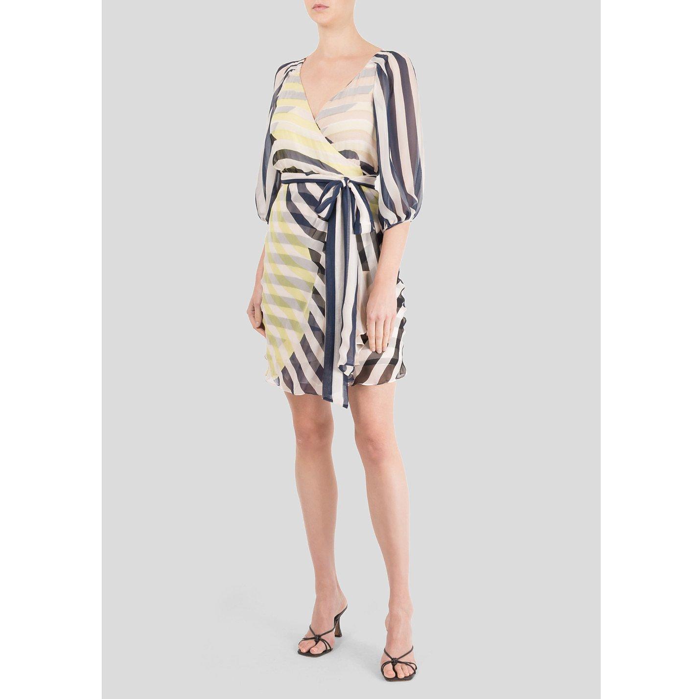 Diane von Furstenberg Striped Silk Tie Dress