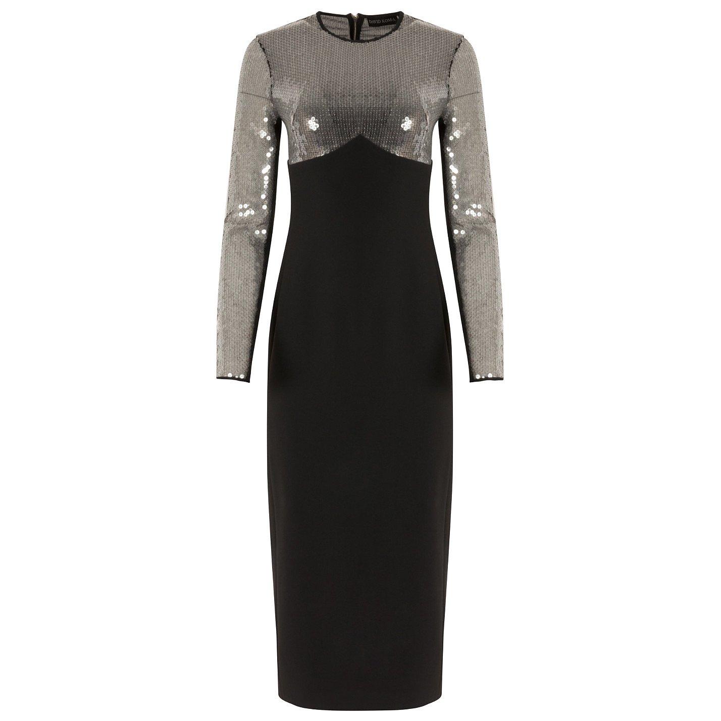 David Koma Sequin-Embellished Midi Dress