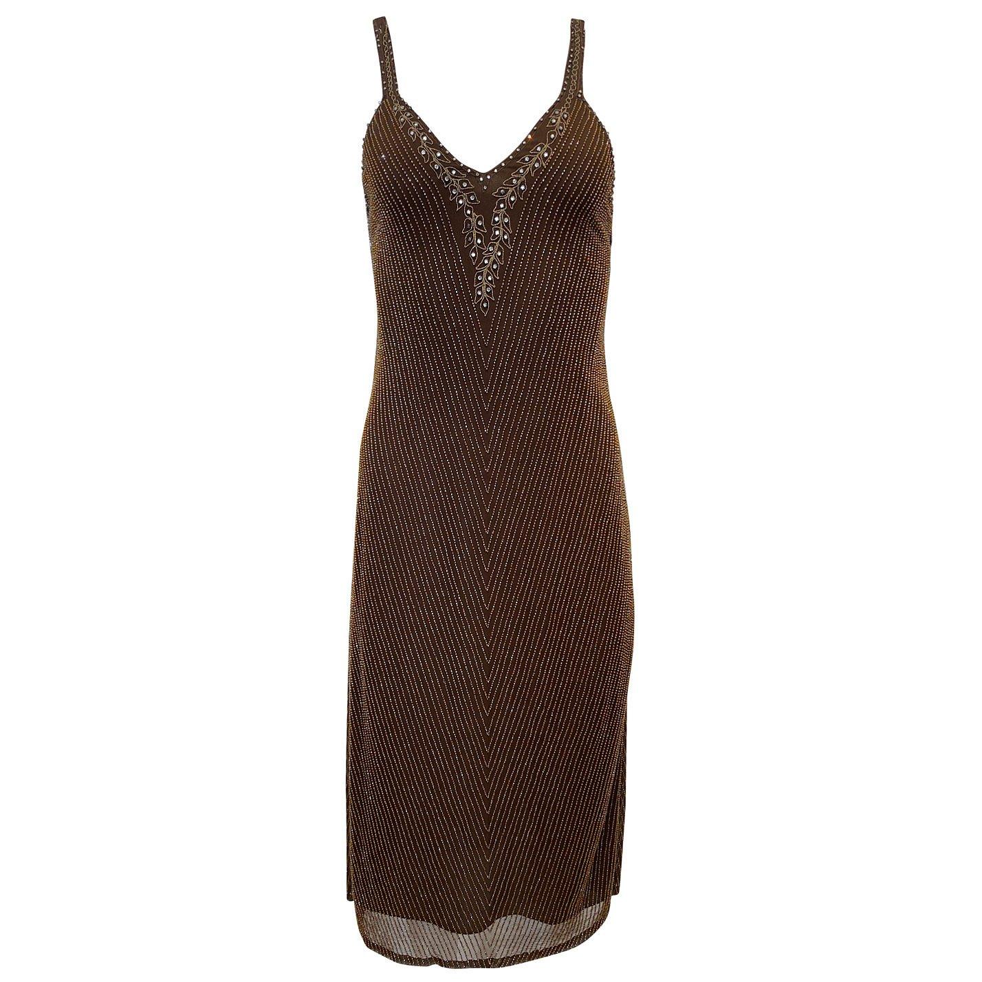 Ralph Lauren Embellished Sleeveless Midi Dress