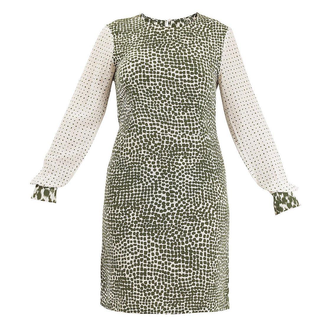 Stella McCartney Contrast Print Silk Dress