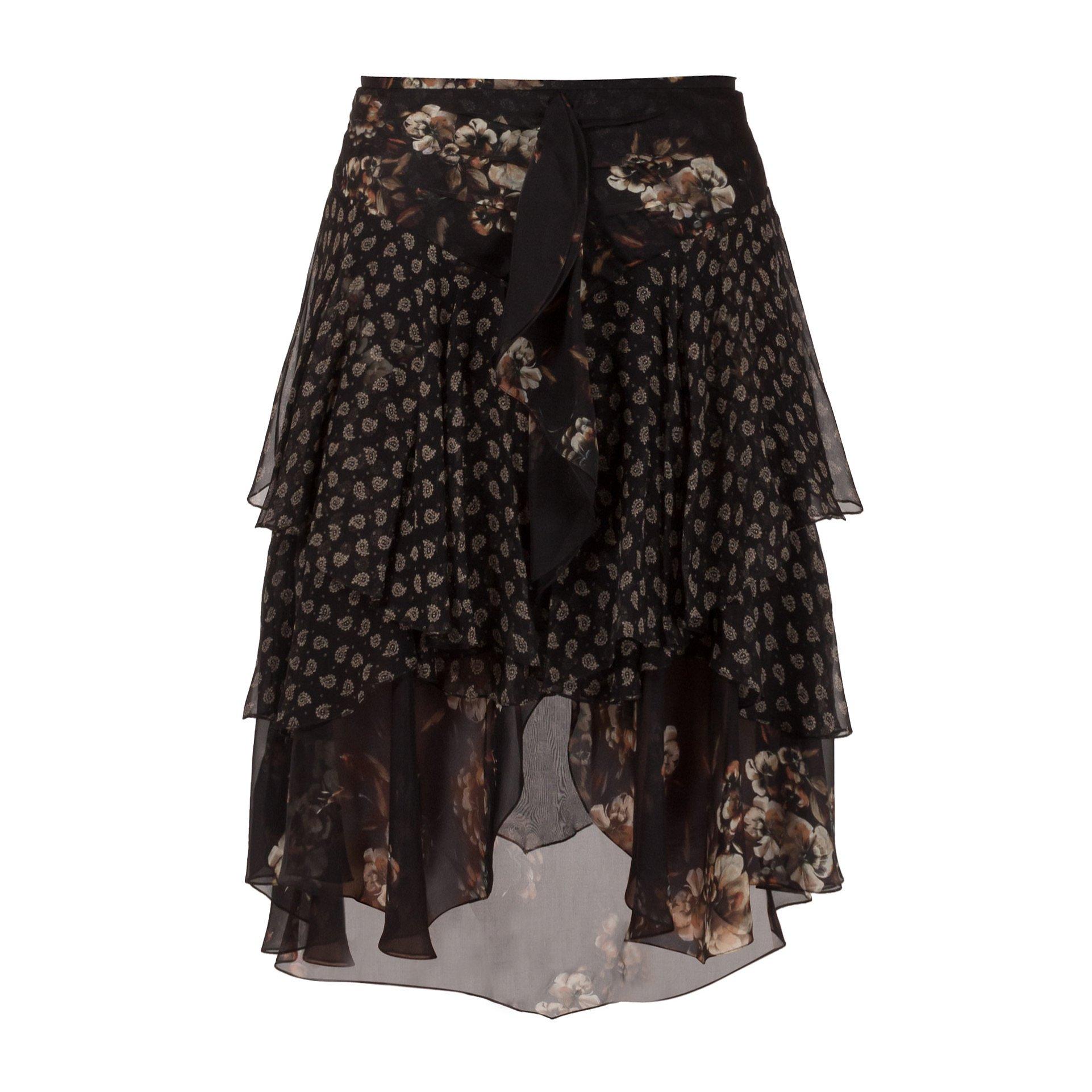 Jason Wu Tiered Printed Silk-Chiffon Skirt