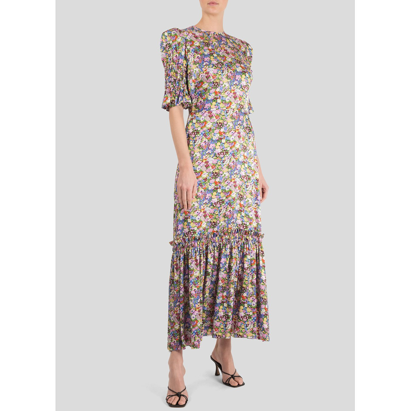 The Vampire's Wife Floral Satin Dress