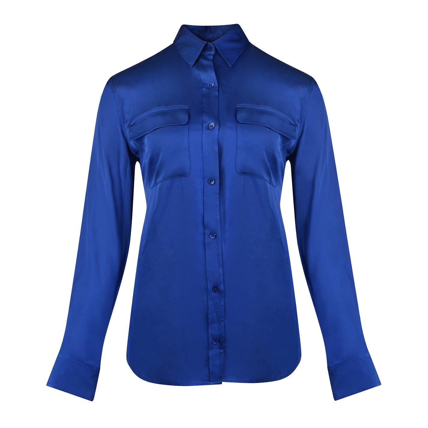 Equipment Satin Shirt With Pockets
