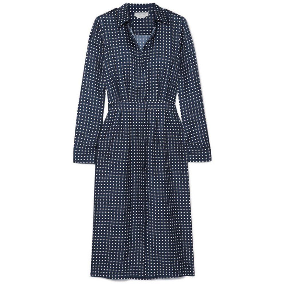 Gabriela Hearst Polka Dot Silk Shirt Dress