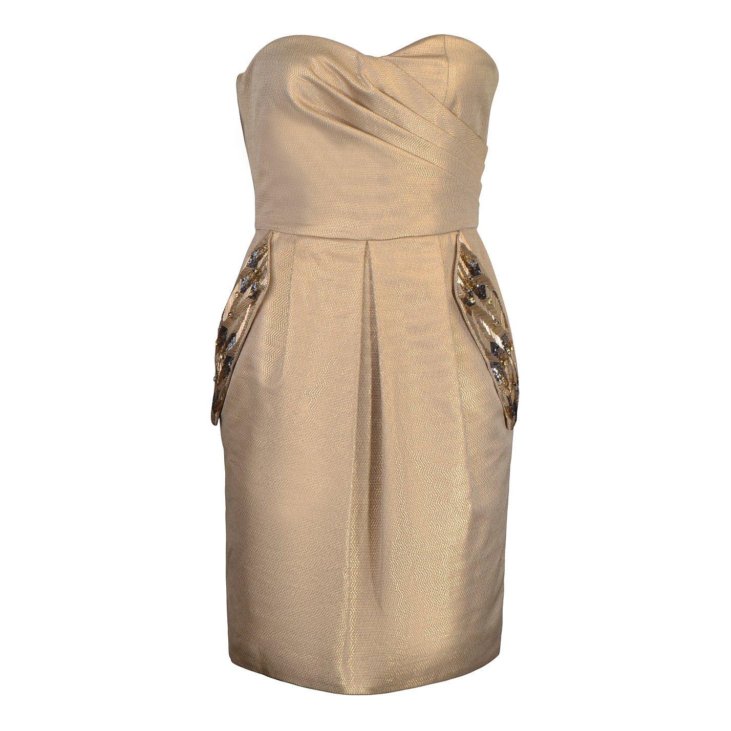 Matthew Williamson Metallic Corset Dress