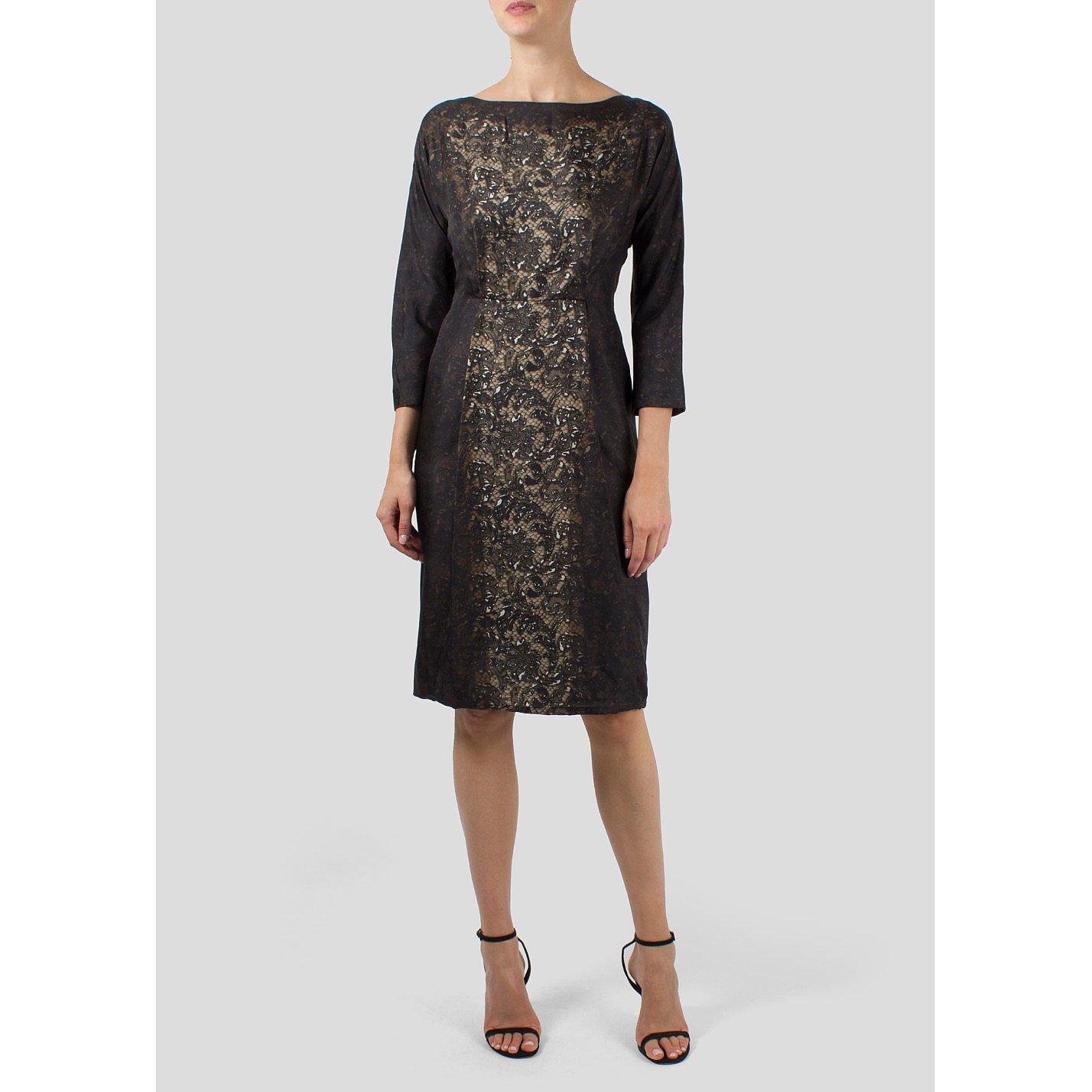 PRADA Lace and Patent Dress