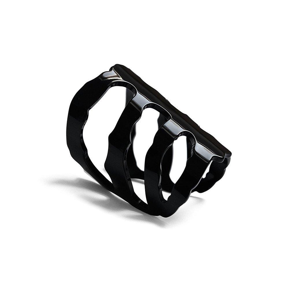 Diana Broussard Vertebrae Mini Bracelet In Black