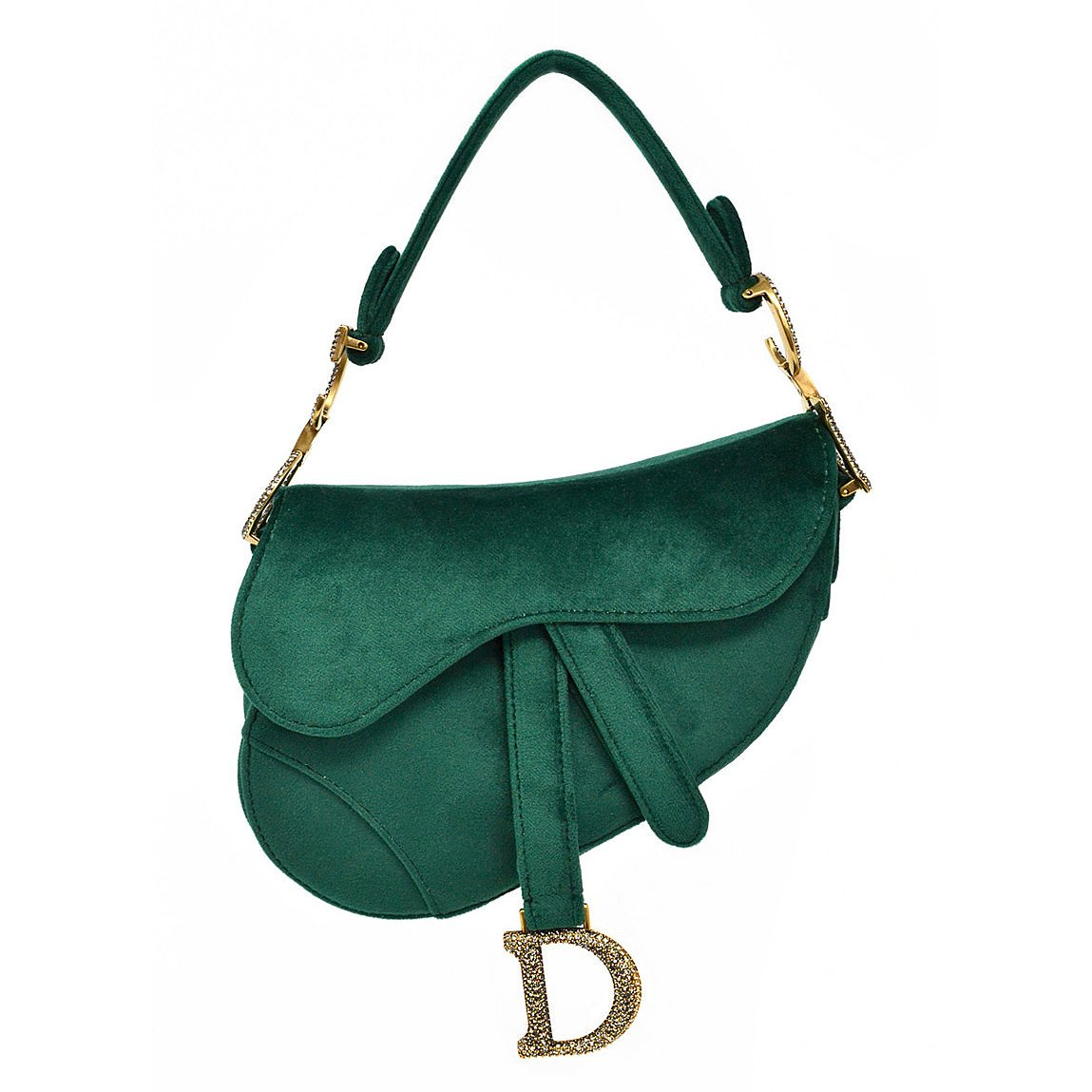 Dior Velvet Mini Saddle Bag