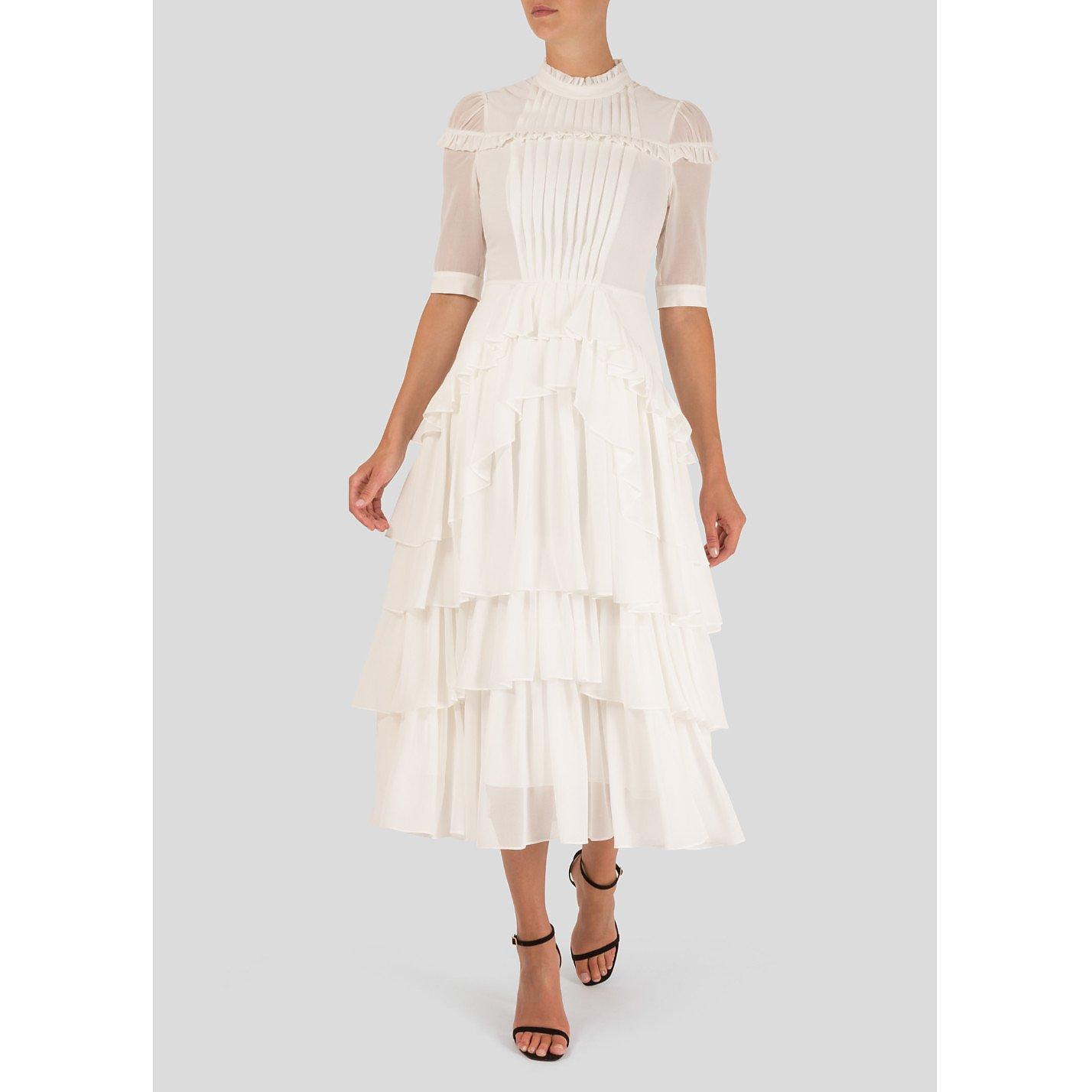 Bora Aksu Ruffled Midi Dress