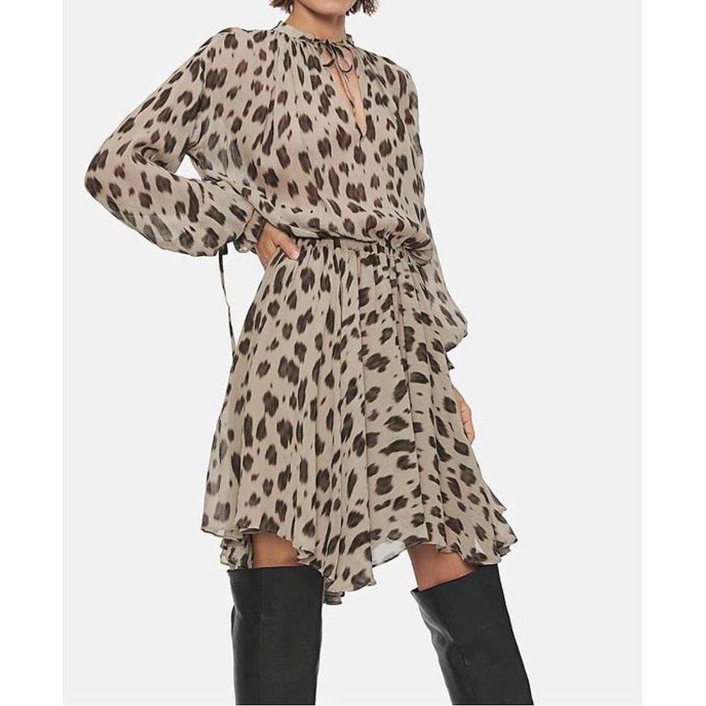 Anine Bing Elliana Leopard Print Chiffon Mini Dress