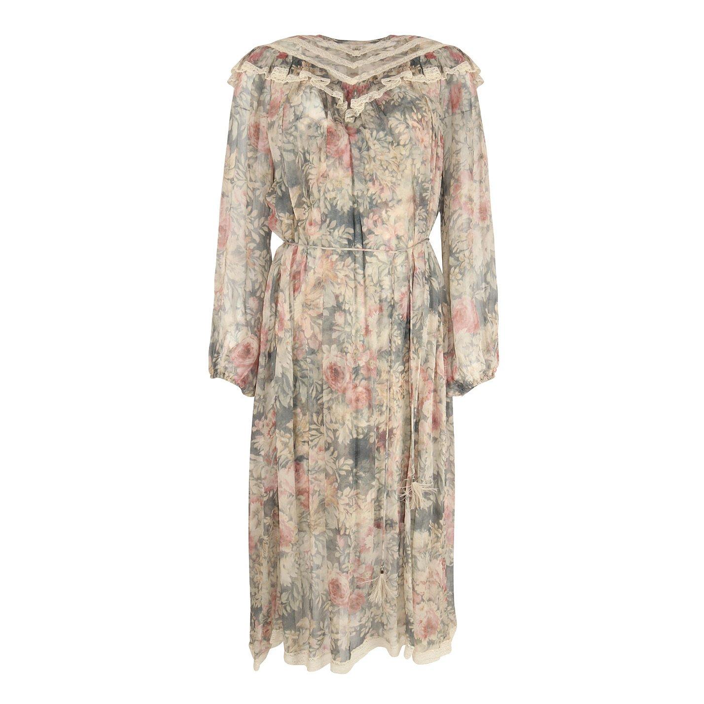 ZIMMERMANN Pastel Floral Midi Dress