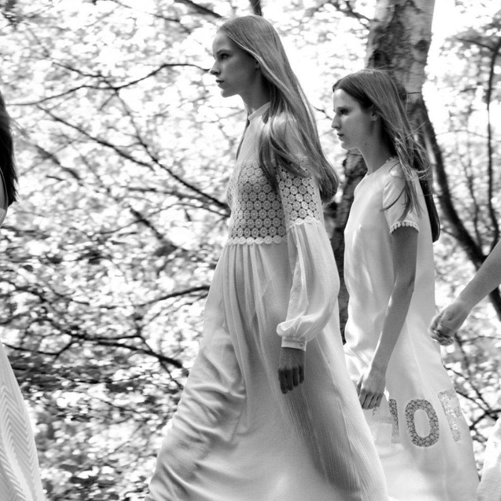 Veronique Branquinho Embroidered Long Silk Dress