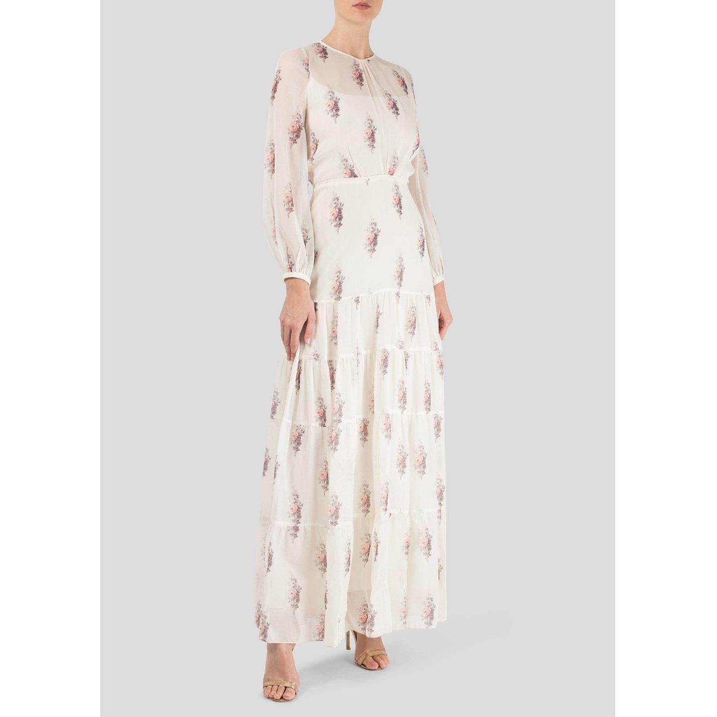 Vilshenko Long Sleeved Full length Floral Dress