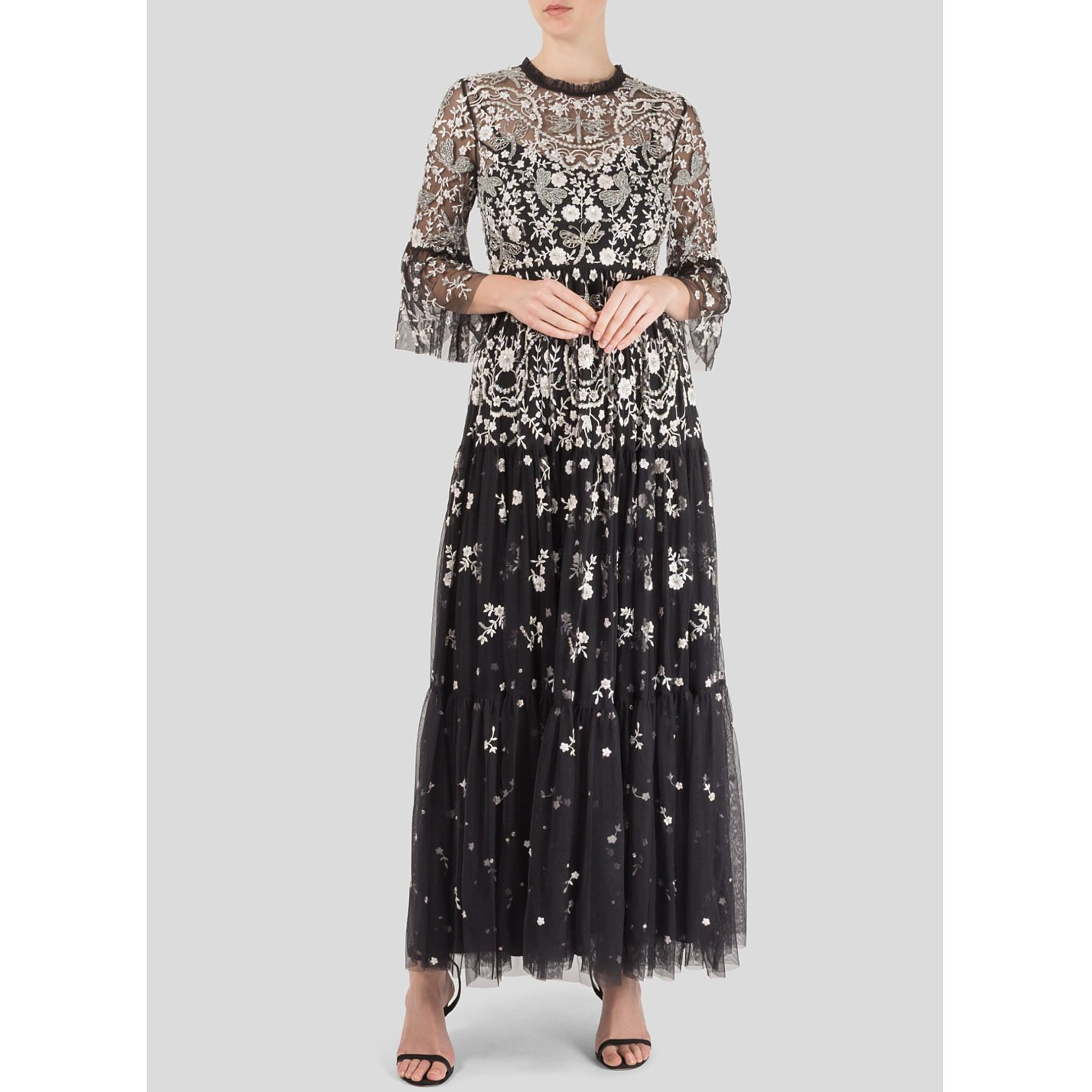 Needle & Thread Dragonfly Embellished Tulle Gown