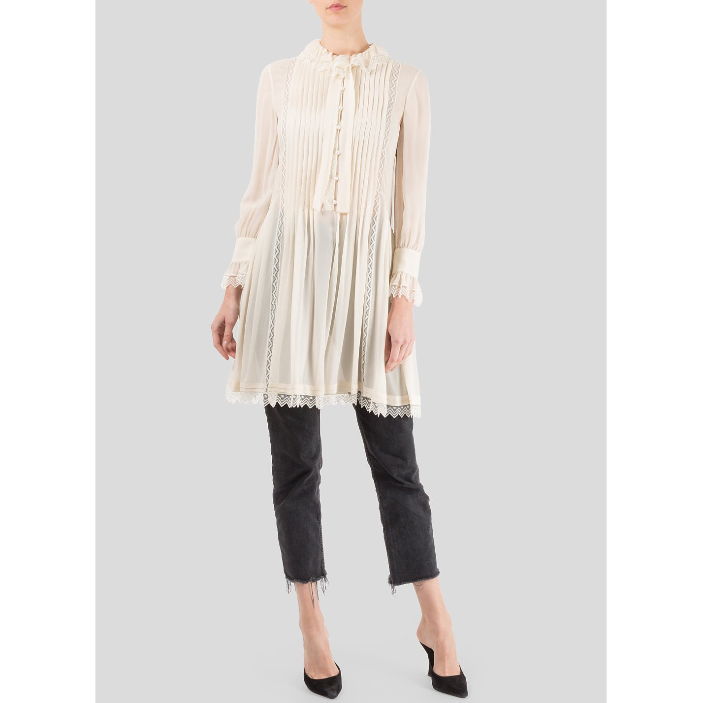 Philosophy Pleated Front Shirt Dress