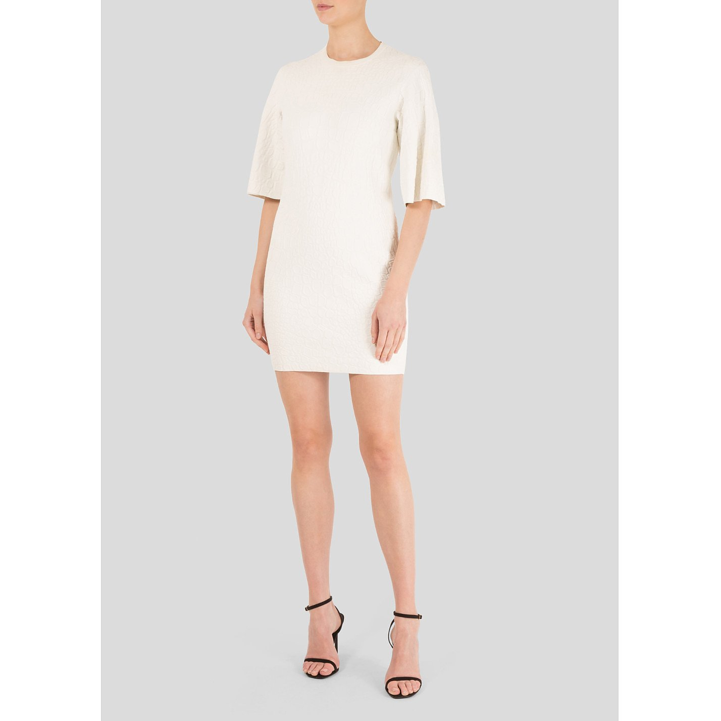 Alexander McQueen Textured Stretch Mini Dress