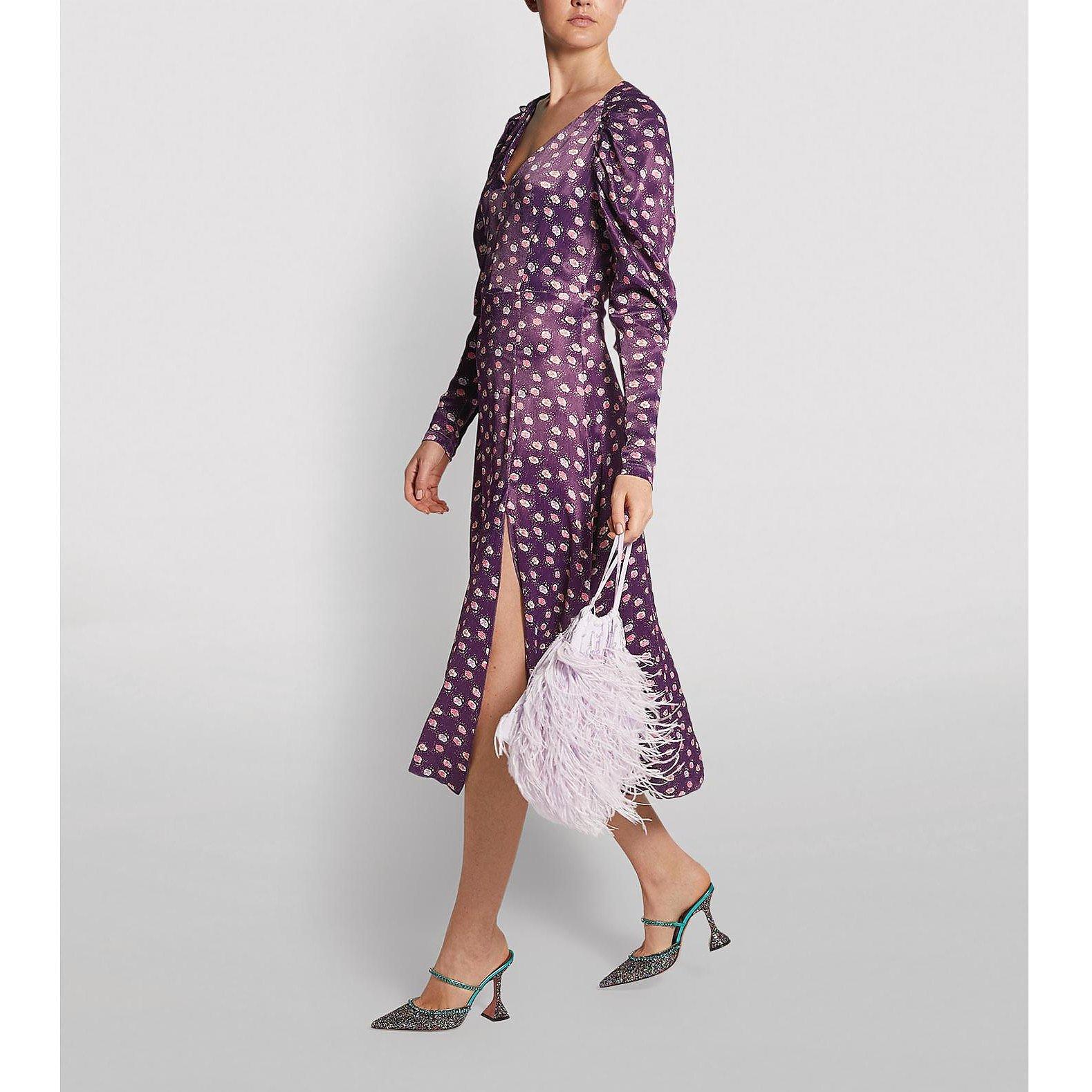 ROTATE Birger Christensen Clair Midi Dress