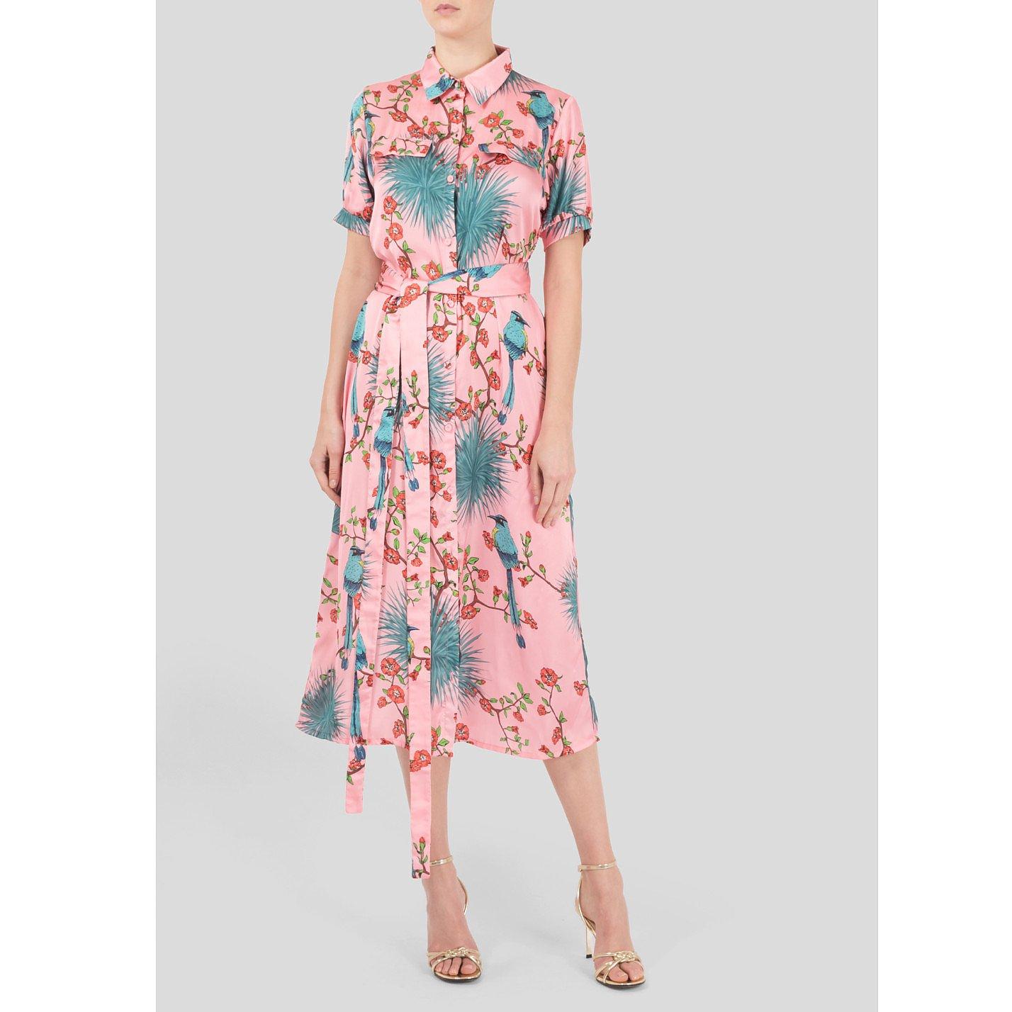 The Latin Runway Agave Print Shirt Dress