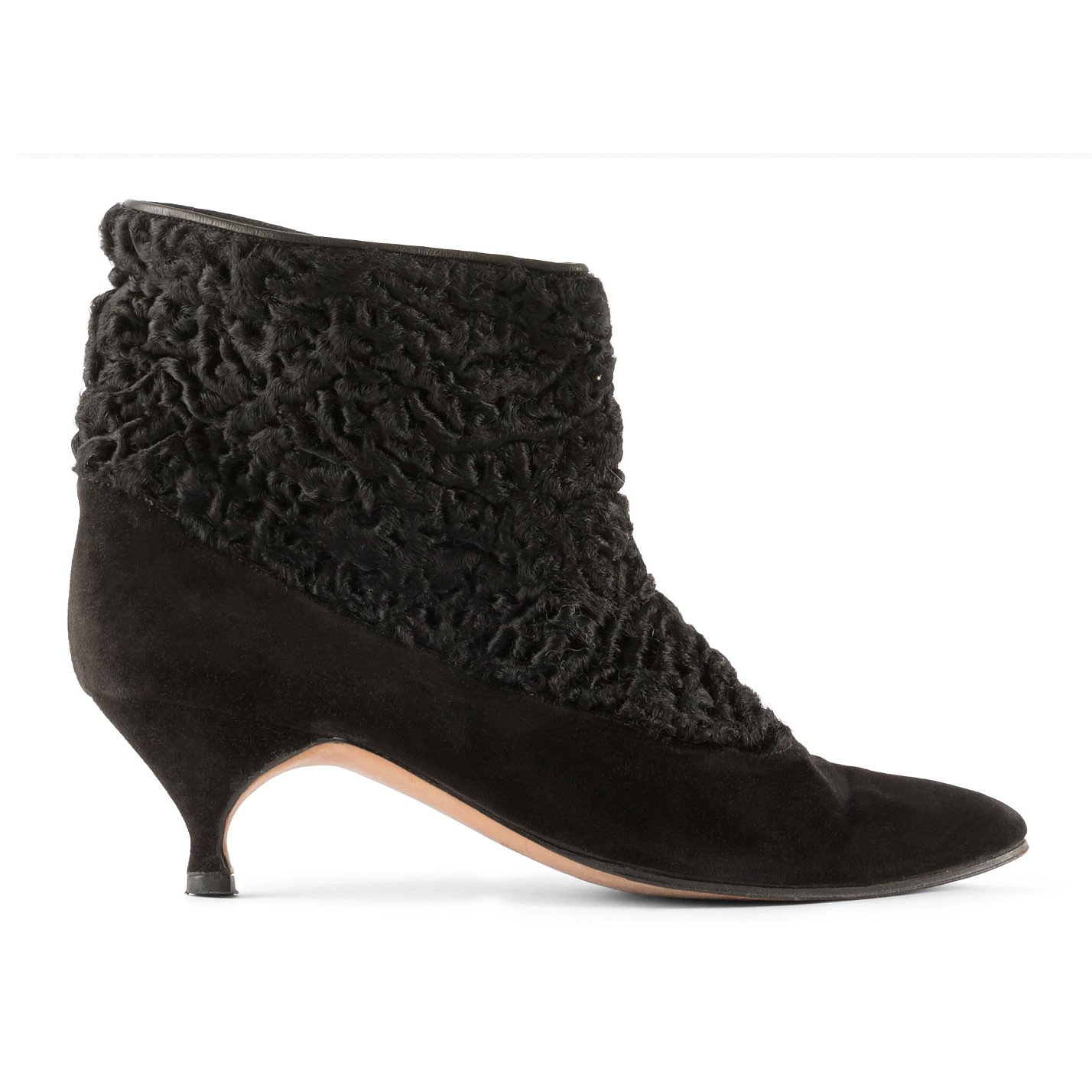 Manolo Blahnik Textured Suede Ankle Boots