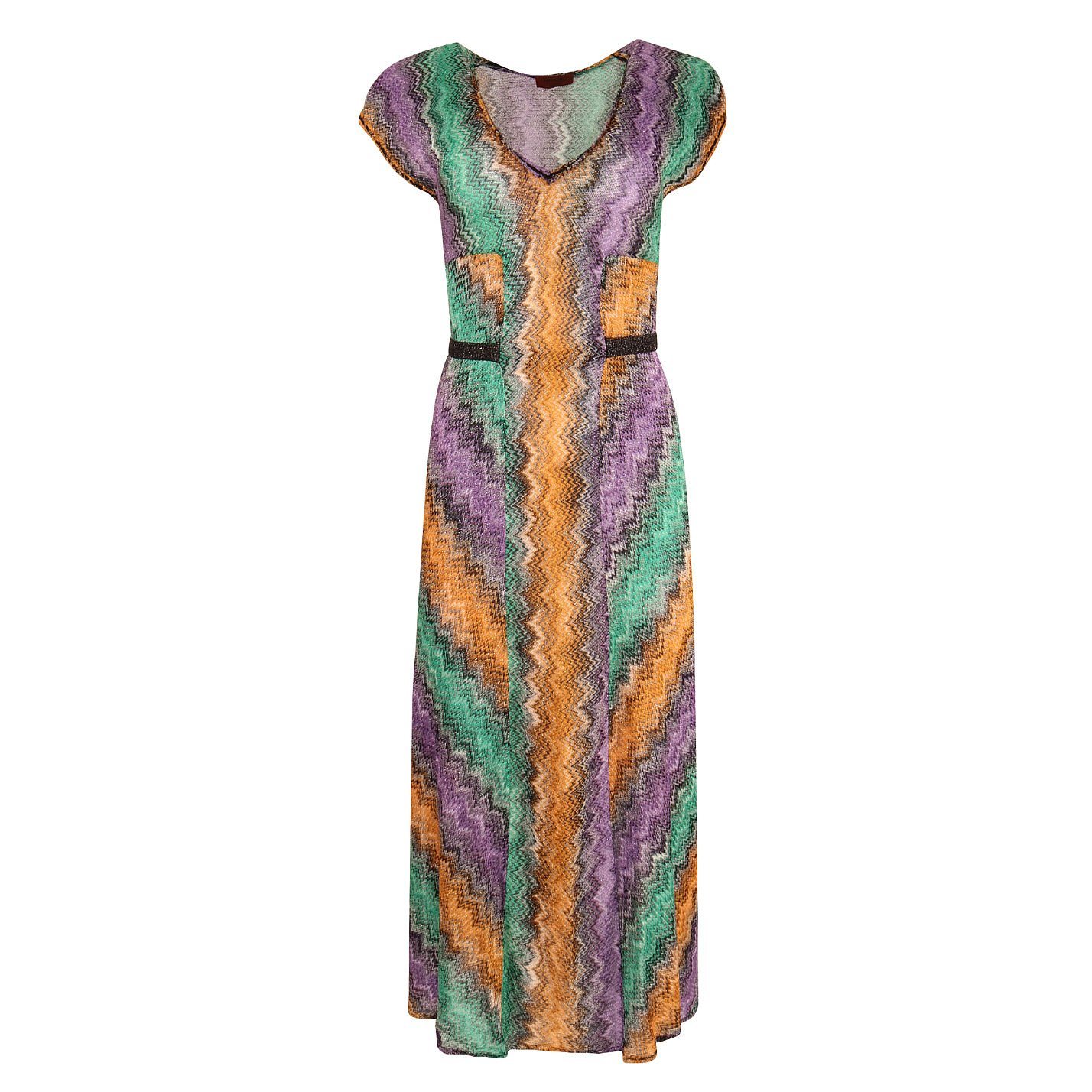 Missoni Belted Multicolour Knit Dress