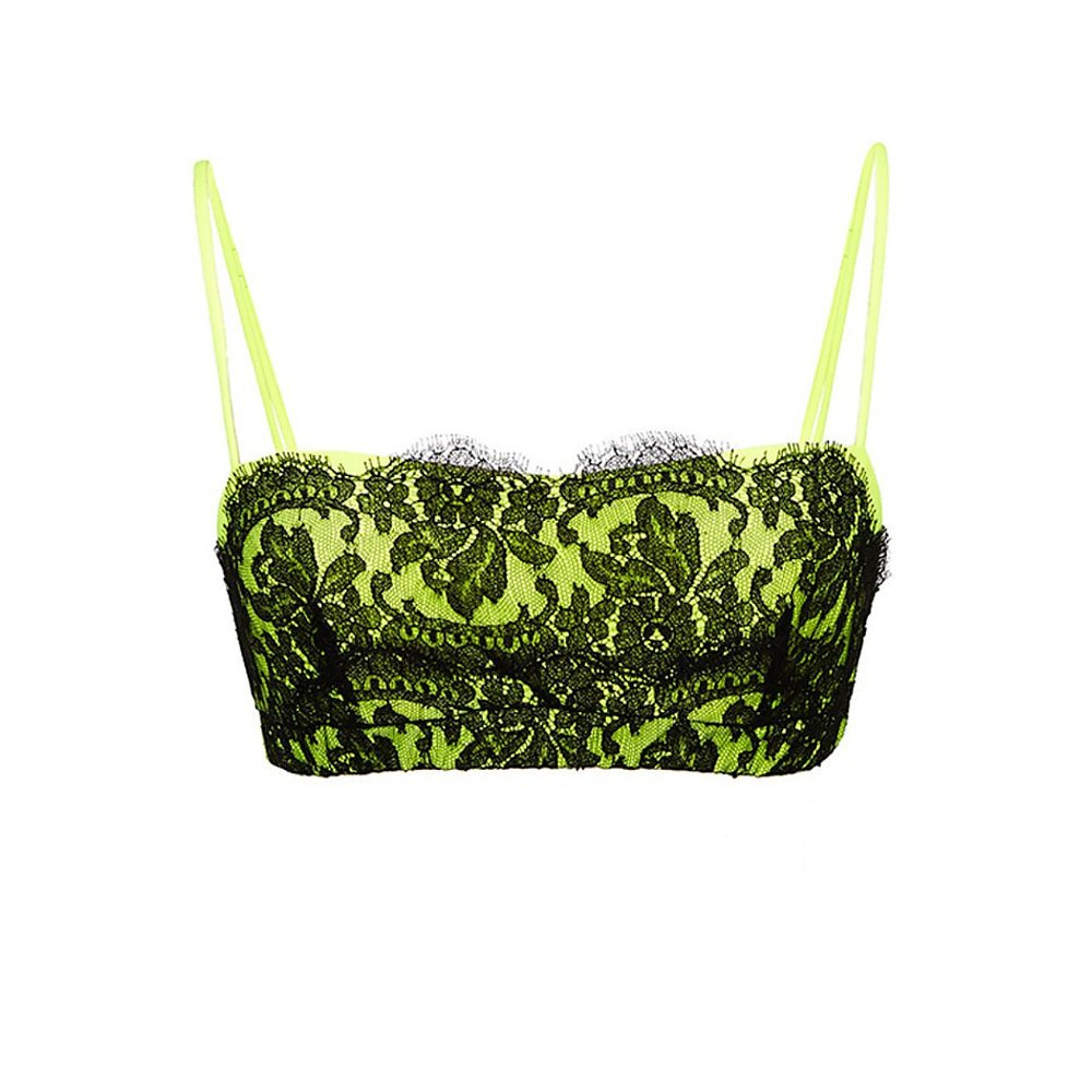 Christopher Kane Neon And Lace Bralette