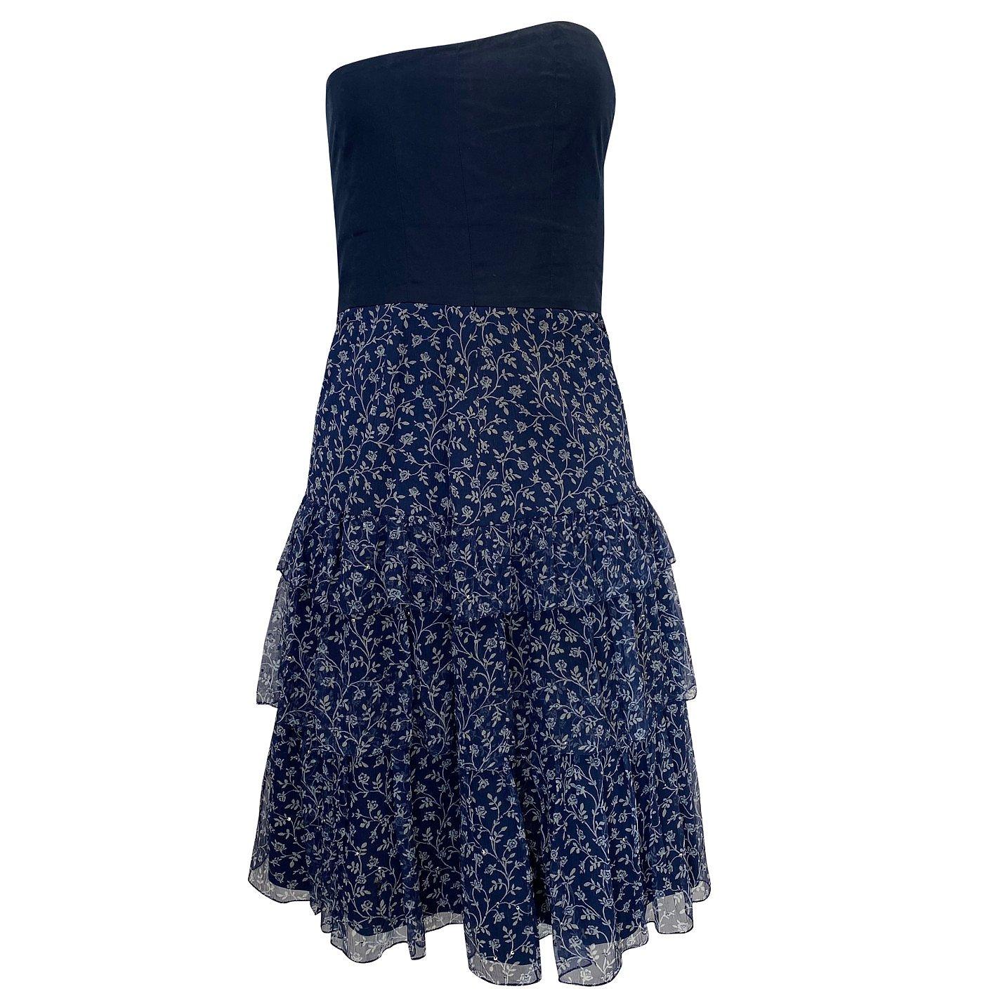 Ralph Lauren Floral-Print Bandeau Dress