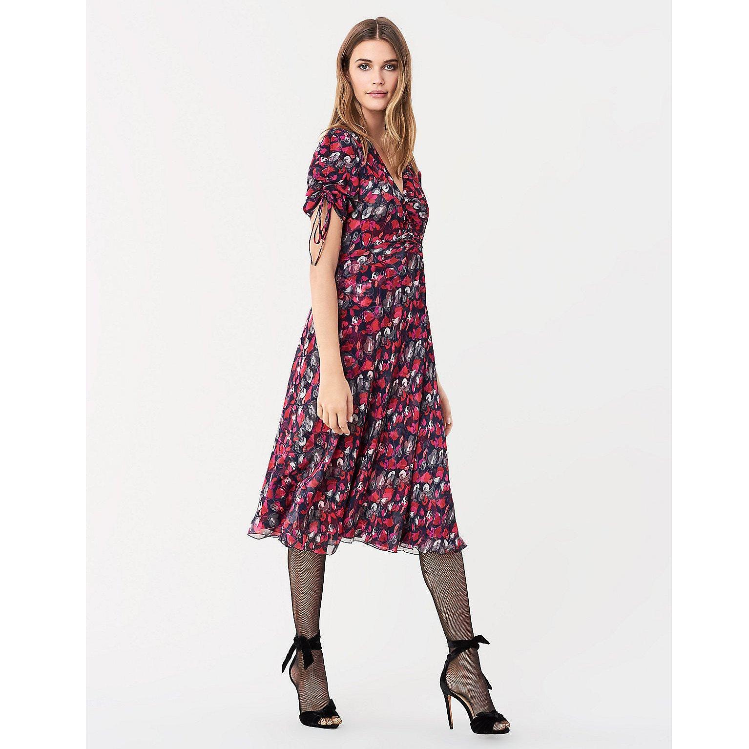 Diane von Furstenberg Eleonora Crinkle Chiffon Dress