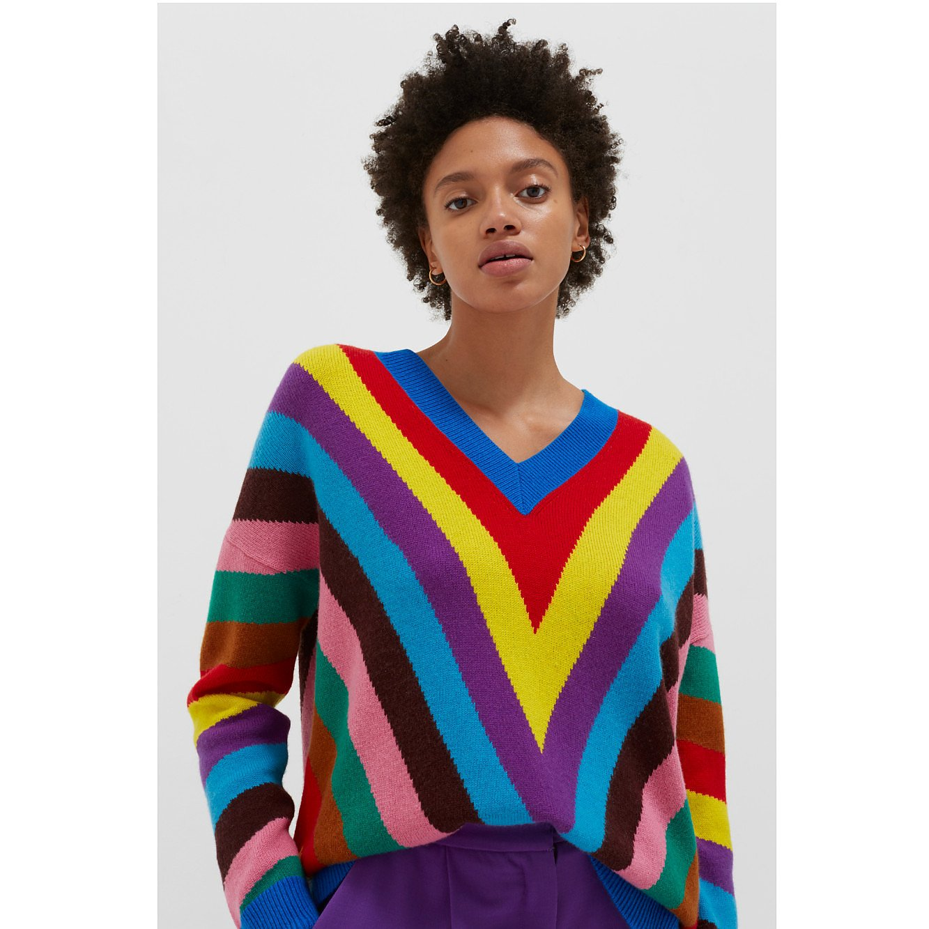 Chinti and Parker Multicolour Virginia Striped Wool-Cashmere Sweater