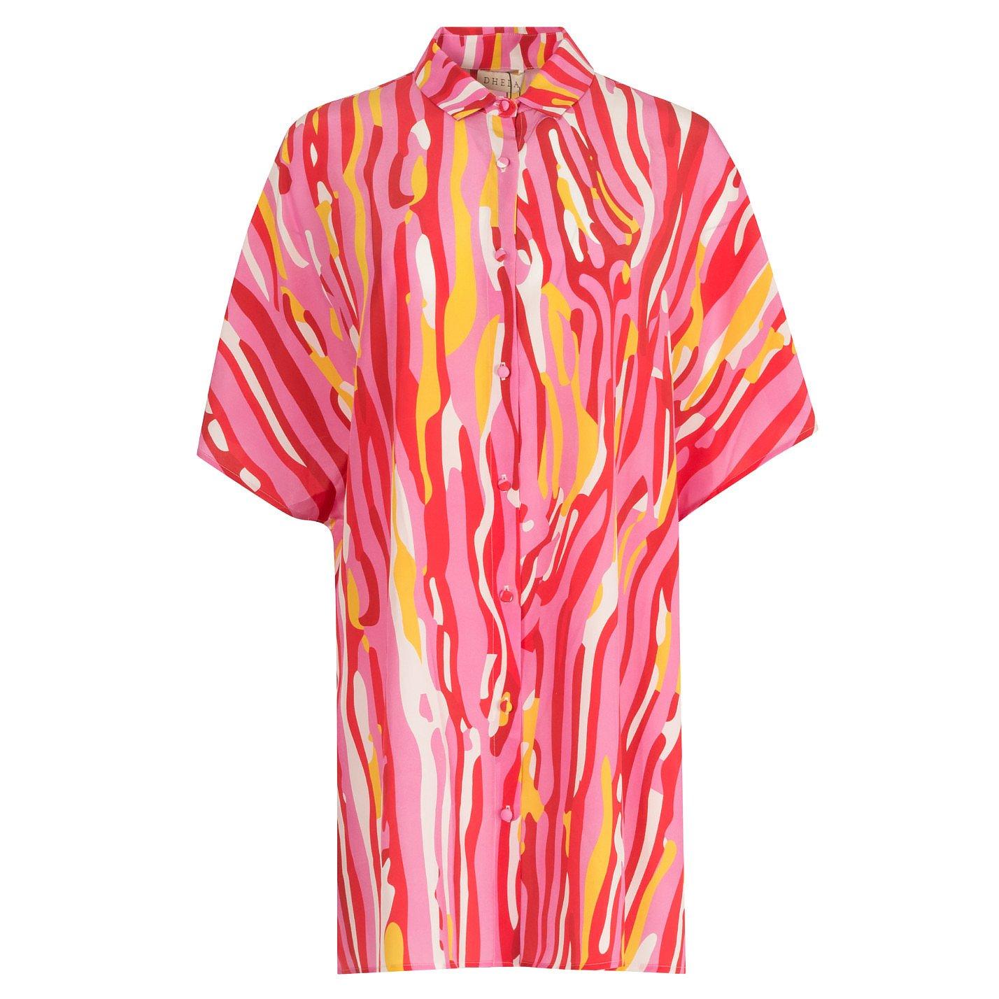 Dhela Printed Oversized Shirt