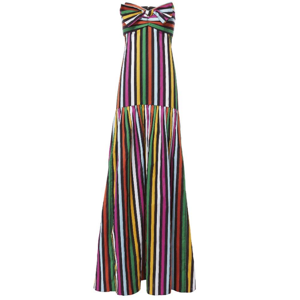 Caroline Constas Striped Maxi Dress