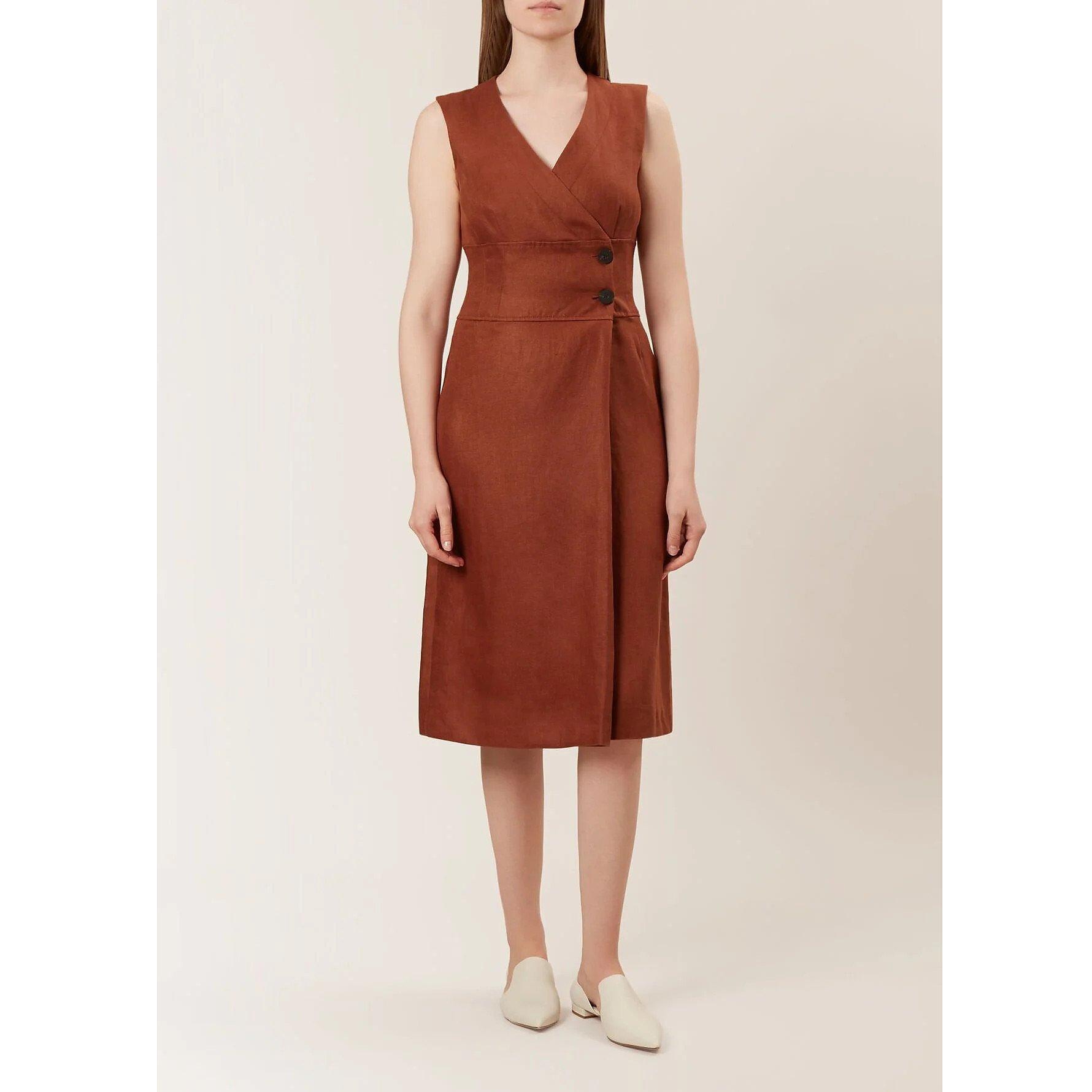 Hobbs Christina Linen Dress