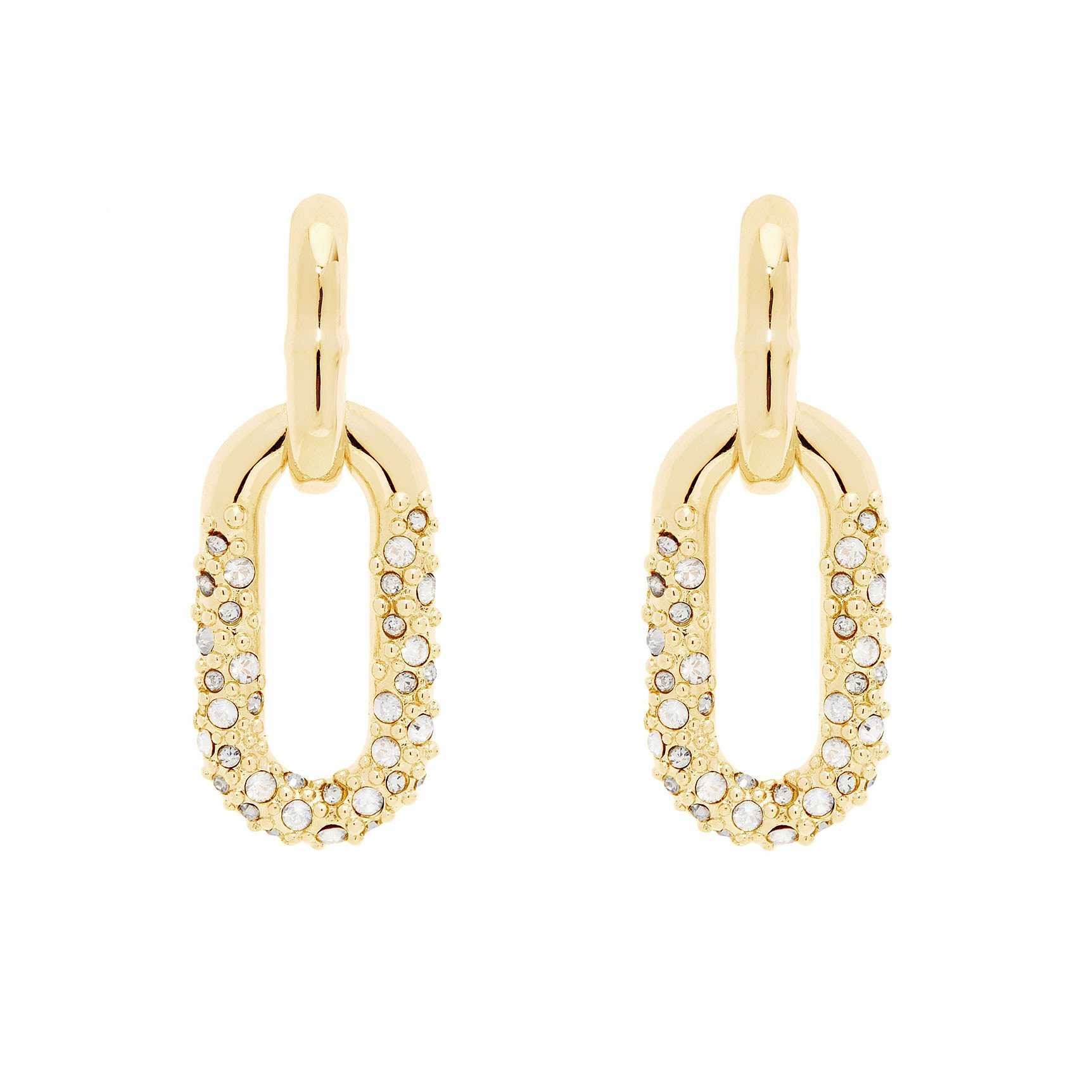 All We Are Orion Star Pave Chain Earrings