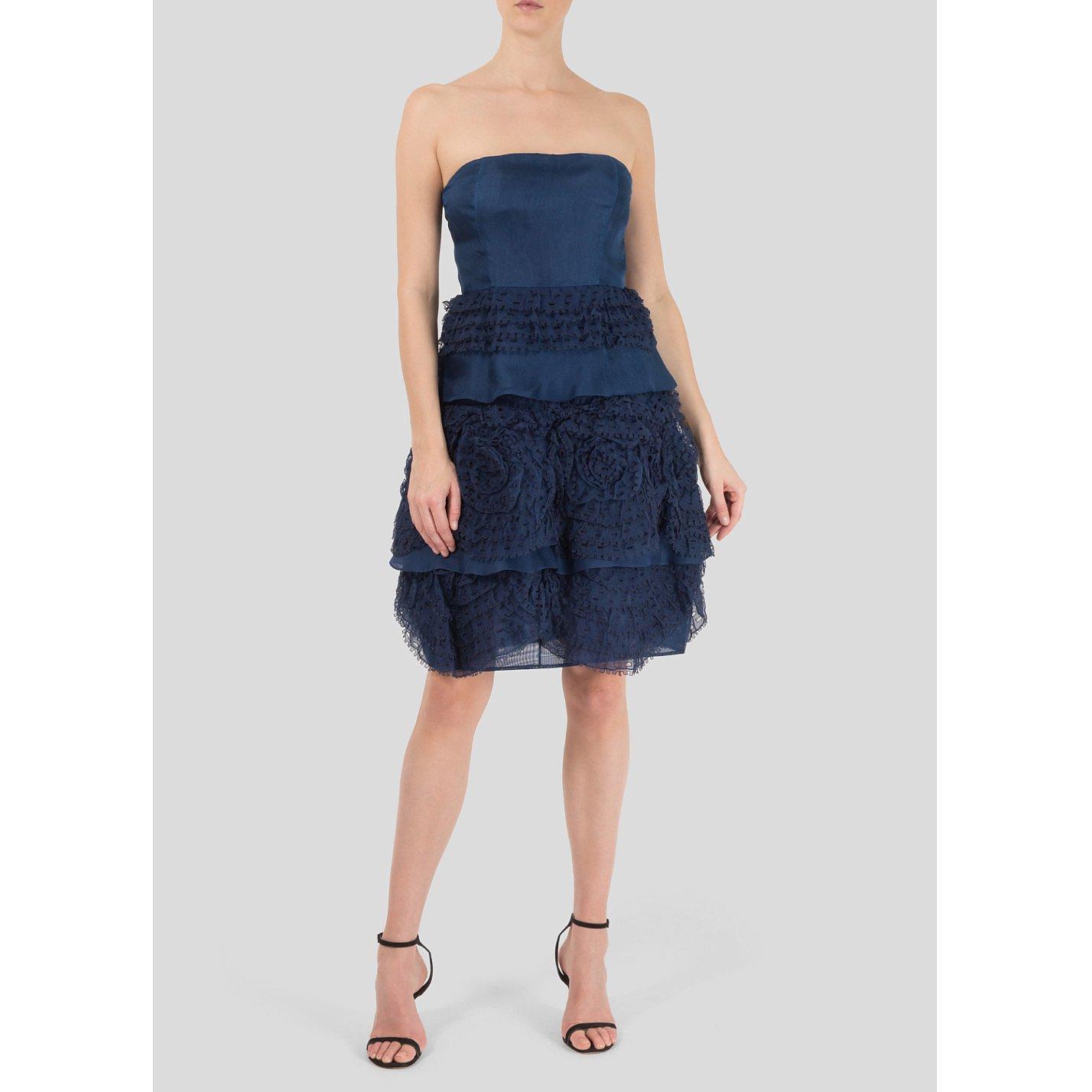 Valentino Sleeveless Tiered Ruffle Dress