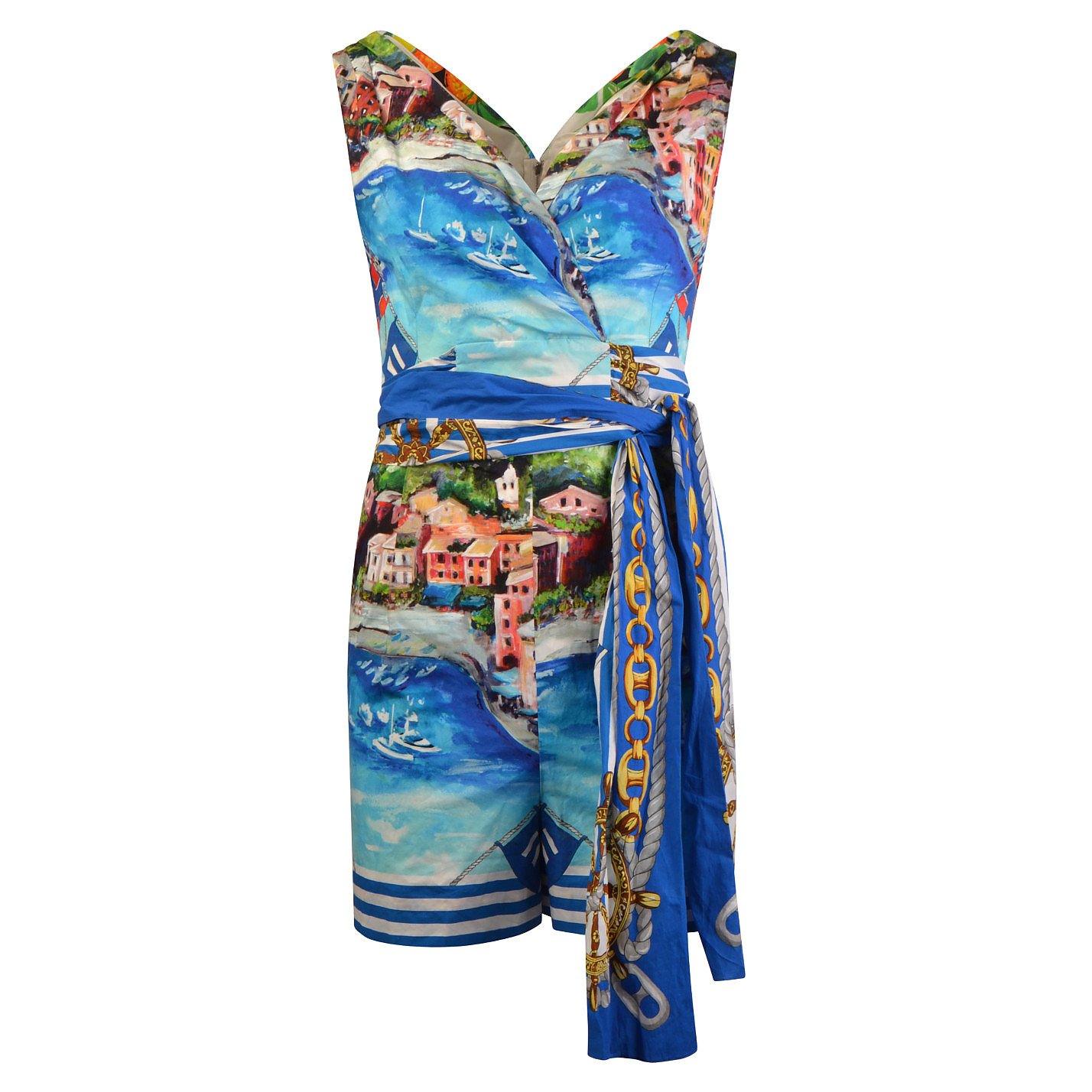 DOLCE & GABBANA Oil Painting Printed Playsuit