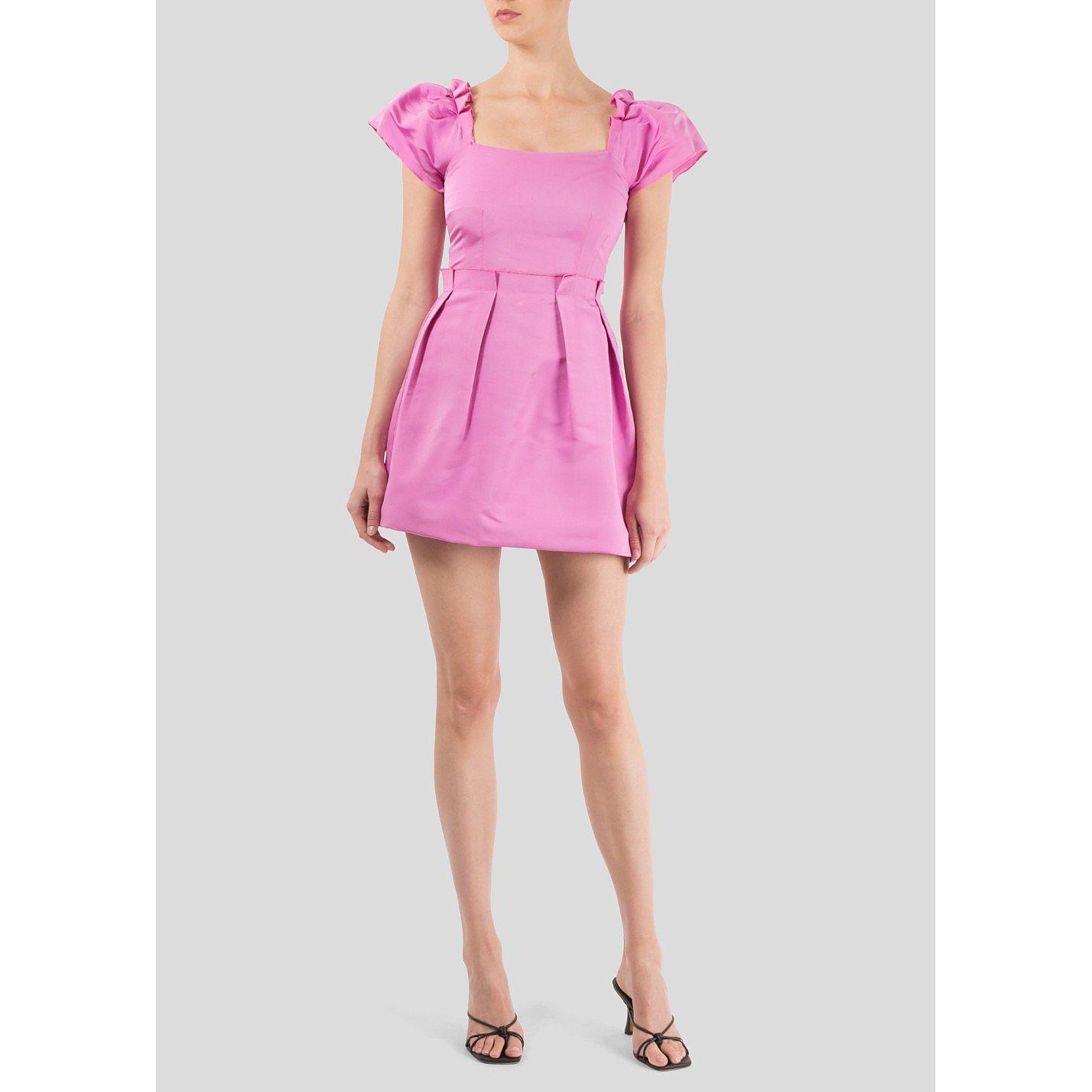 Sea Ruffle Mini Dress