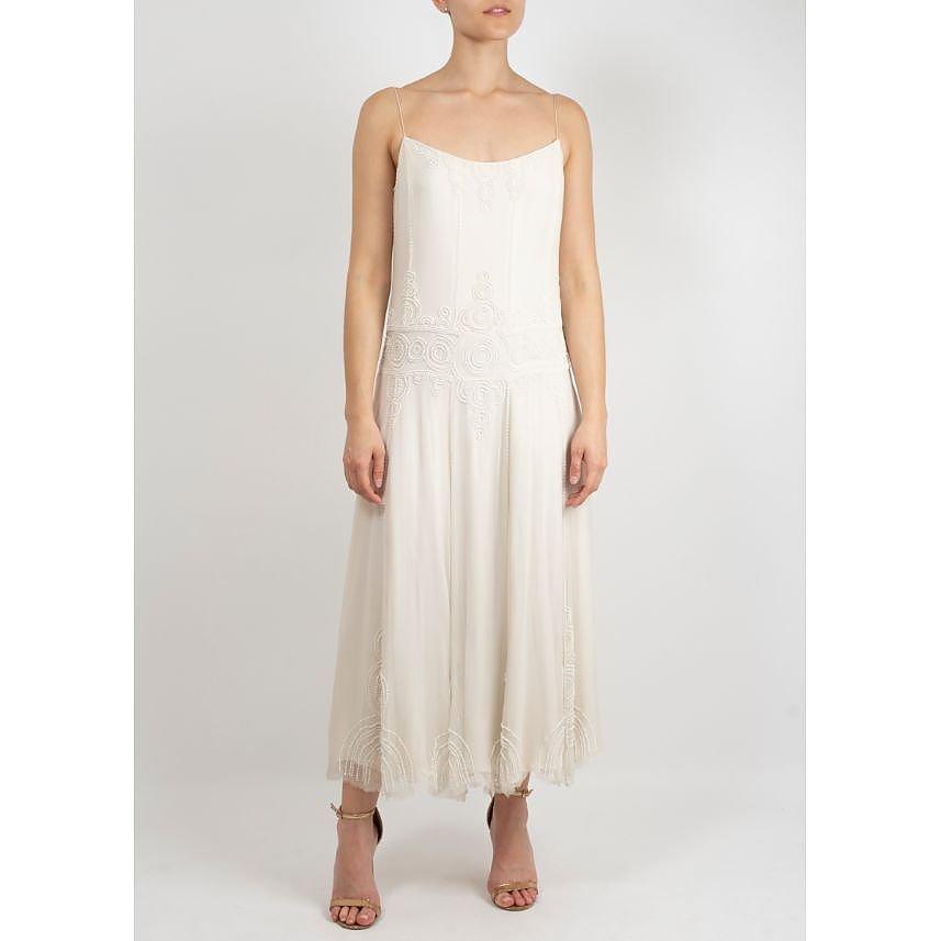 Bamford Strappy Beaded Midi Dress
