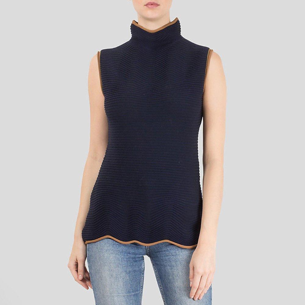Roksanda Guston Ribbed Wool-Blend Turtleneck Top