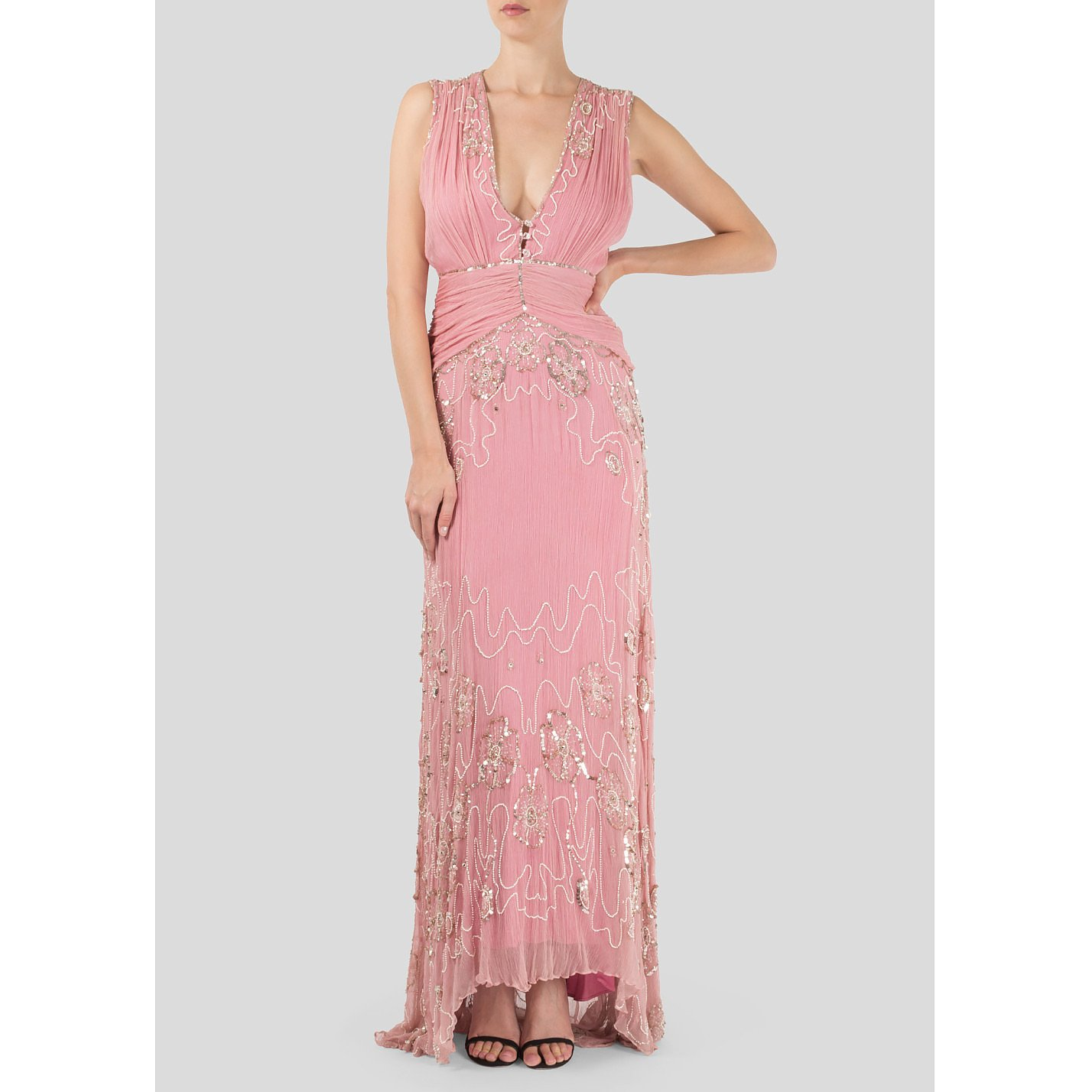Temperley London Embellished Sleeveless Gown