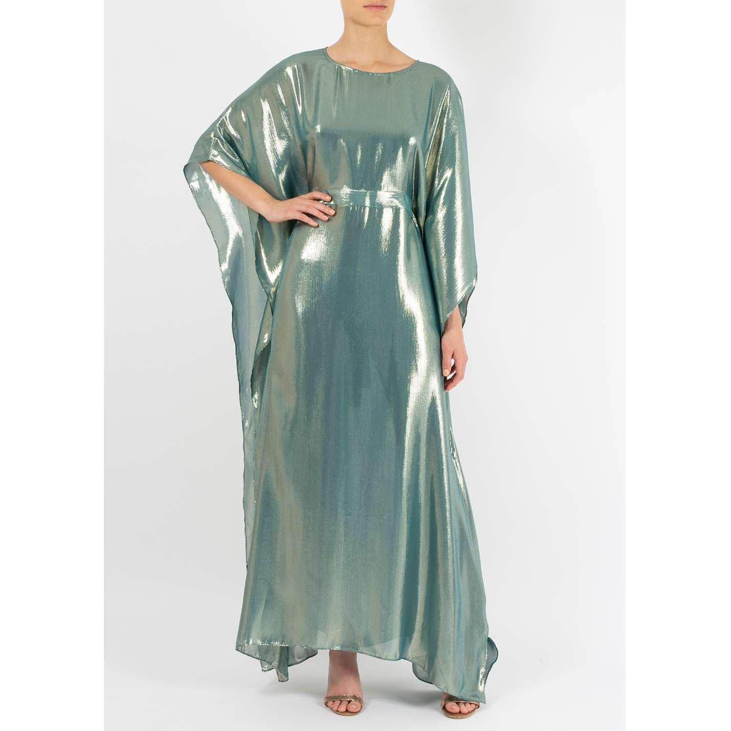 Dhela Metallic Kaftan Gown