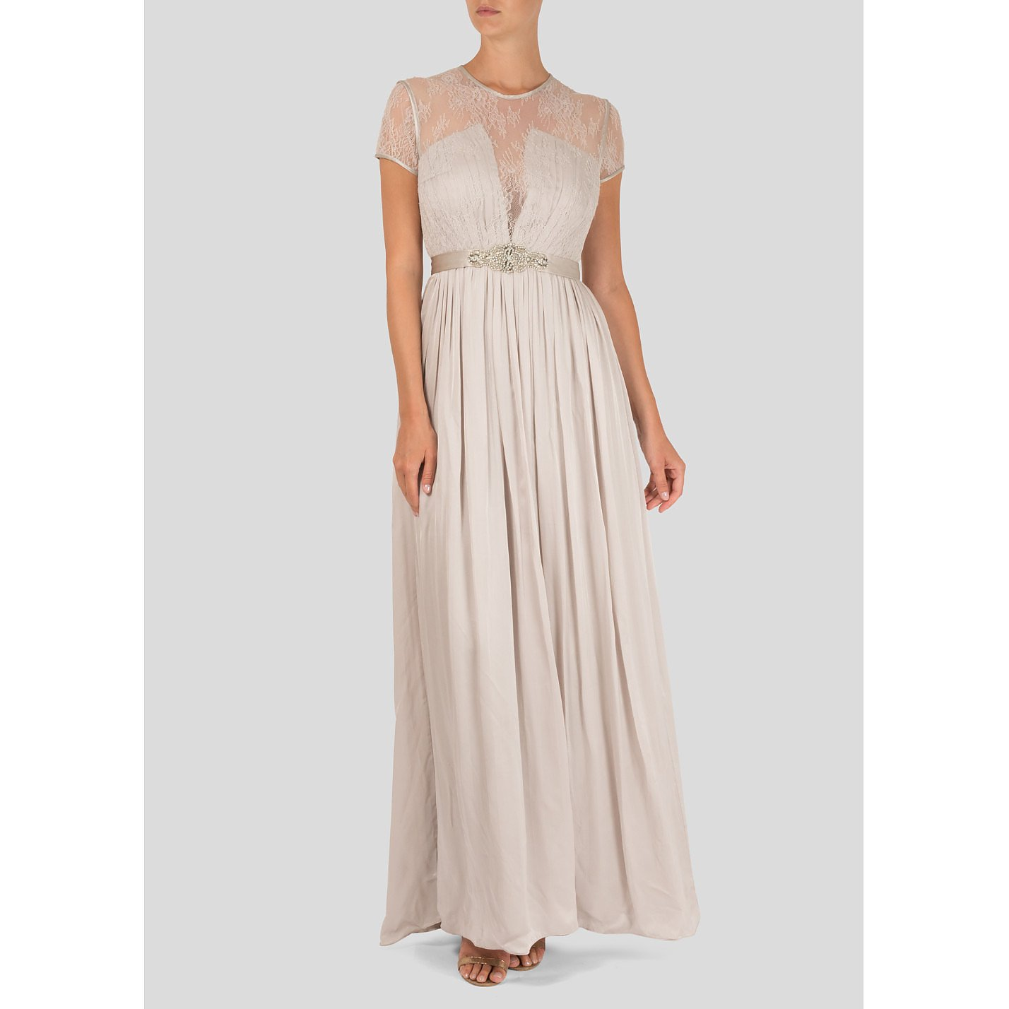 Catherine Deane Lace And Silk Gown