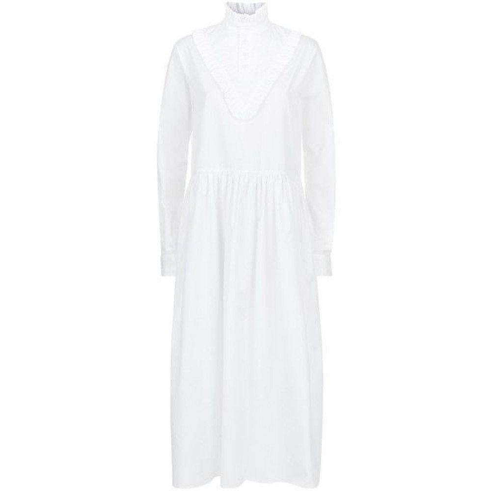 Malene Oddershede Bach Long Dress with Ruffle Collar