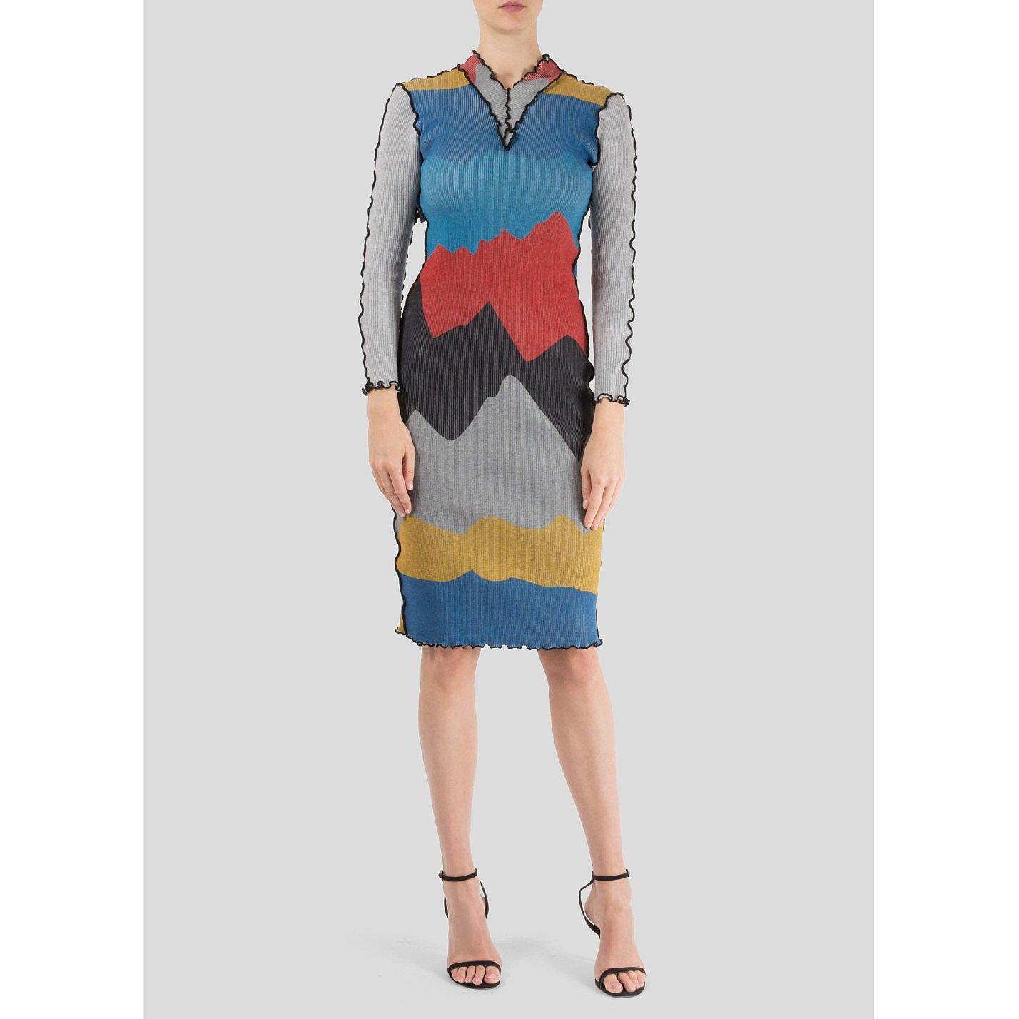 Minnanhui Multicolour Graphic Bodycon Dress